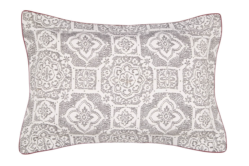 Image of Bedeck Amaya Oxford Pillowcase, Charcoal