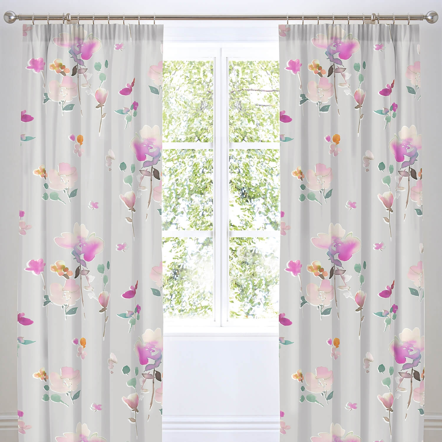 Image of Dreams & Drapes Jessica Ready Made Curtains, 183 x 168 cm, Pink