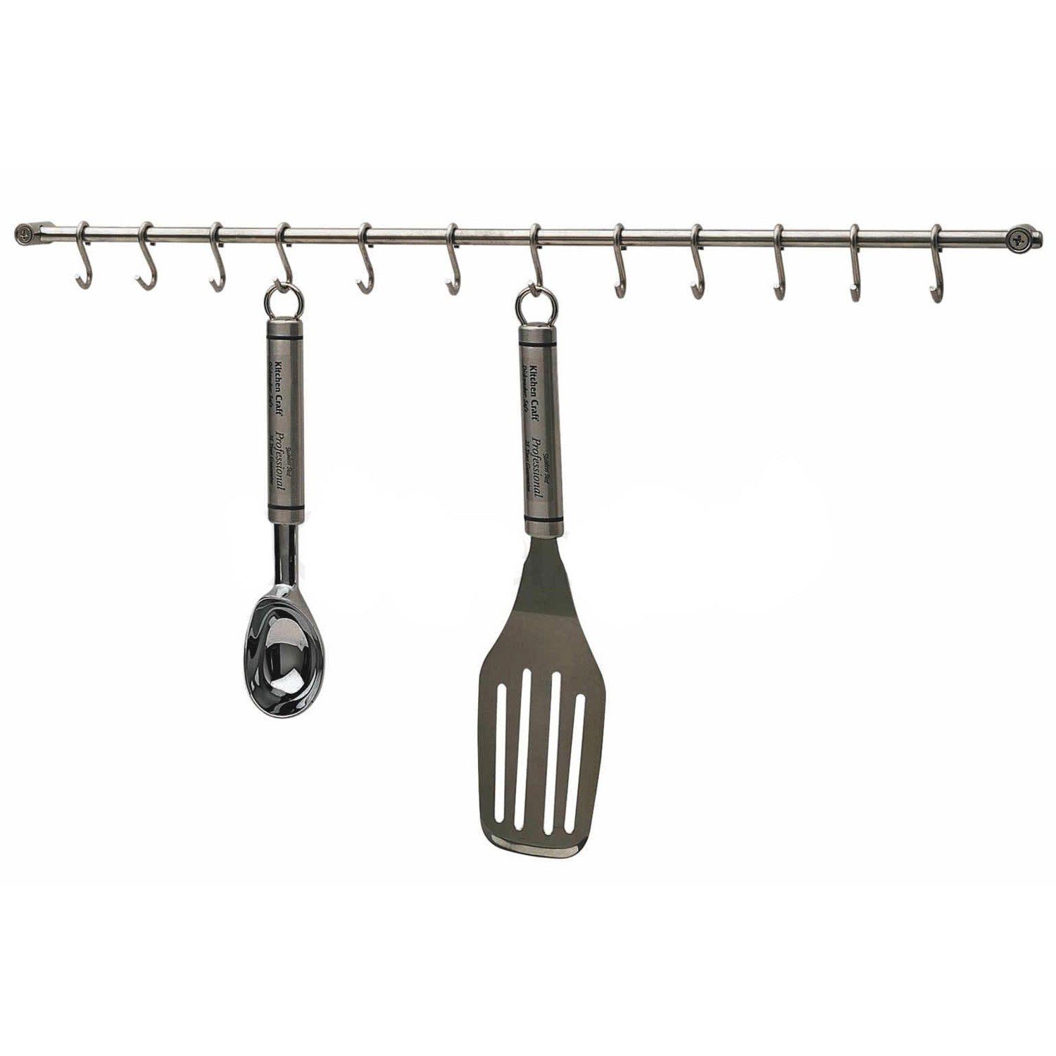 kitchencraft stainless steel cm utensil hanging rack  lee - zoom