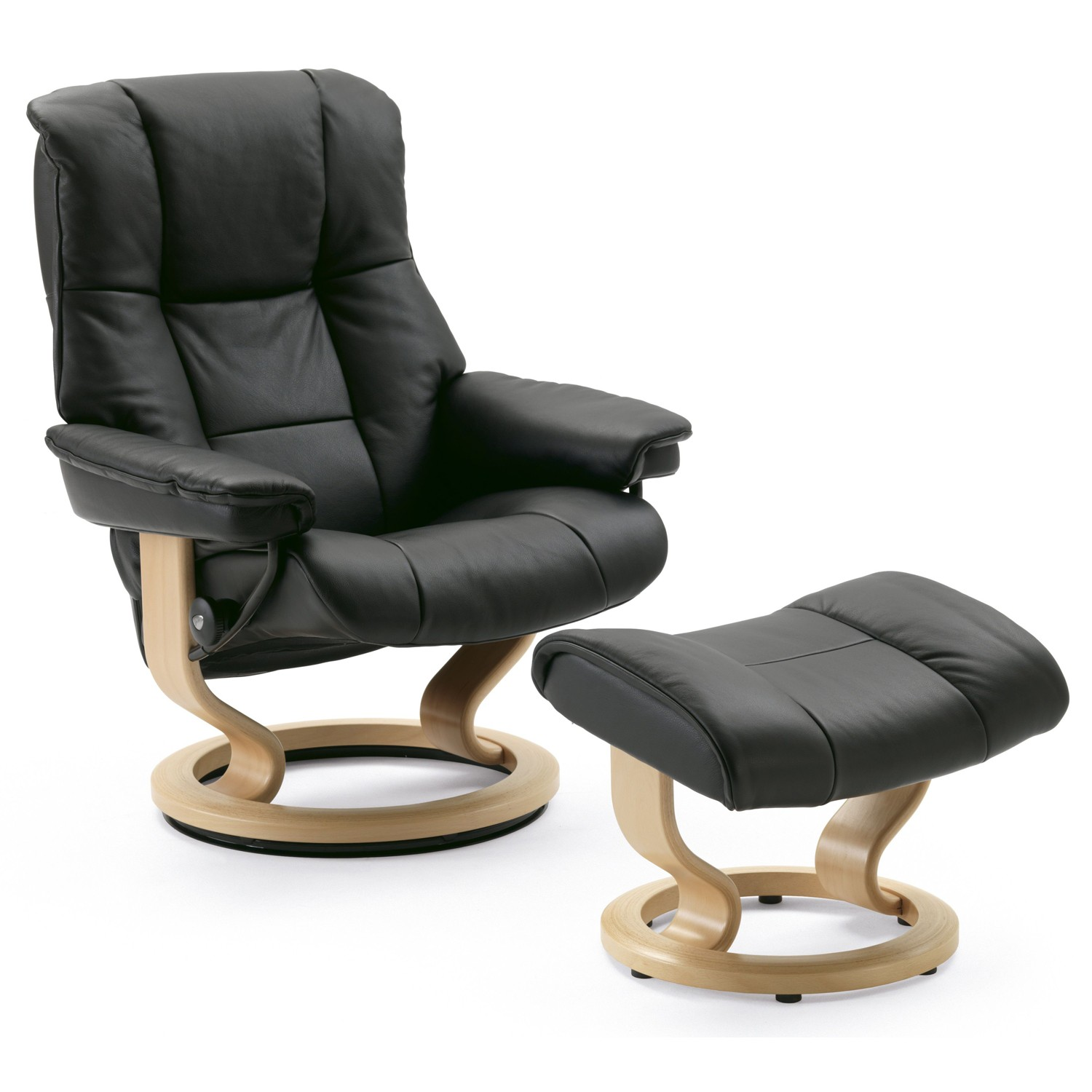stressless mayfair chair and stool leekes. Black Bedroom Furniture Sets. Home Design Ideas