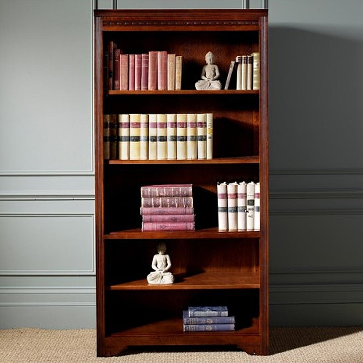 Old Charm Bookcase Open Leekes