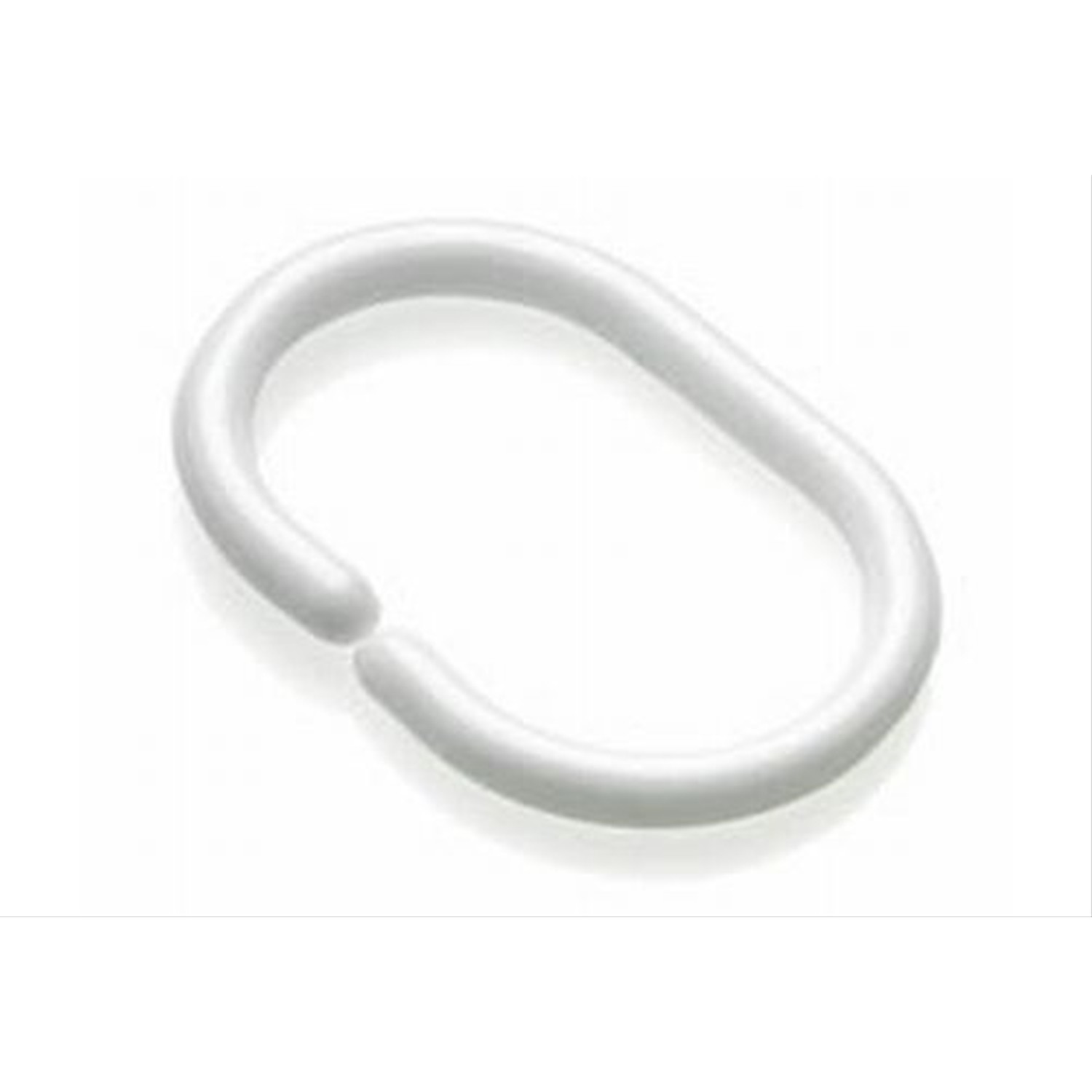 Croydex C Shaped Shower Curtain Ring White