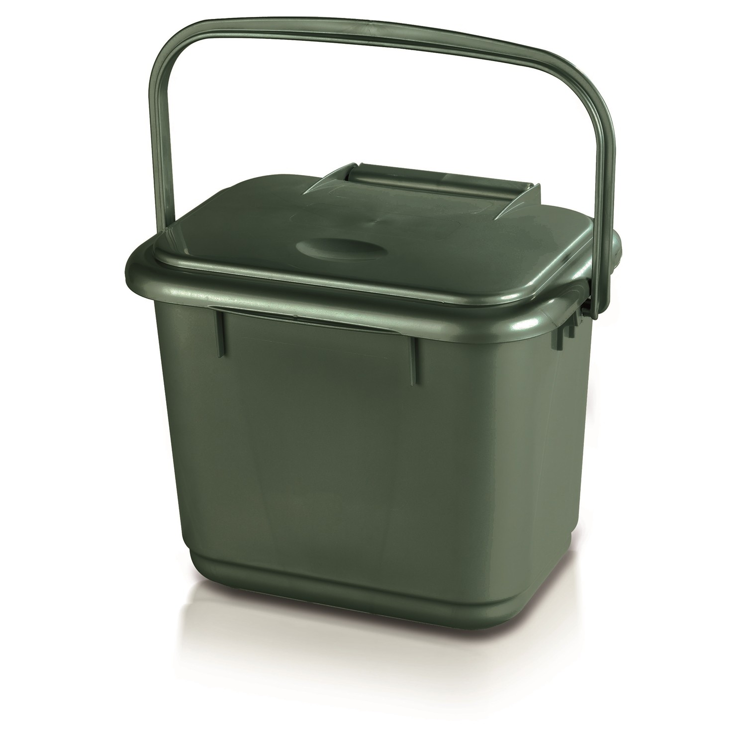 Addis Food Compost Caddy Green Leekes