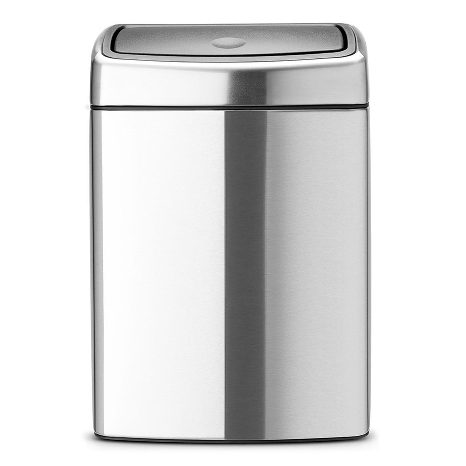 brabantia matt steel 10 litre touch bin leekes. Black Bedroom Furniture Sets. Home Design Ideas