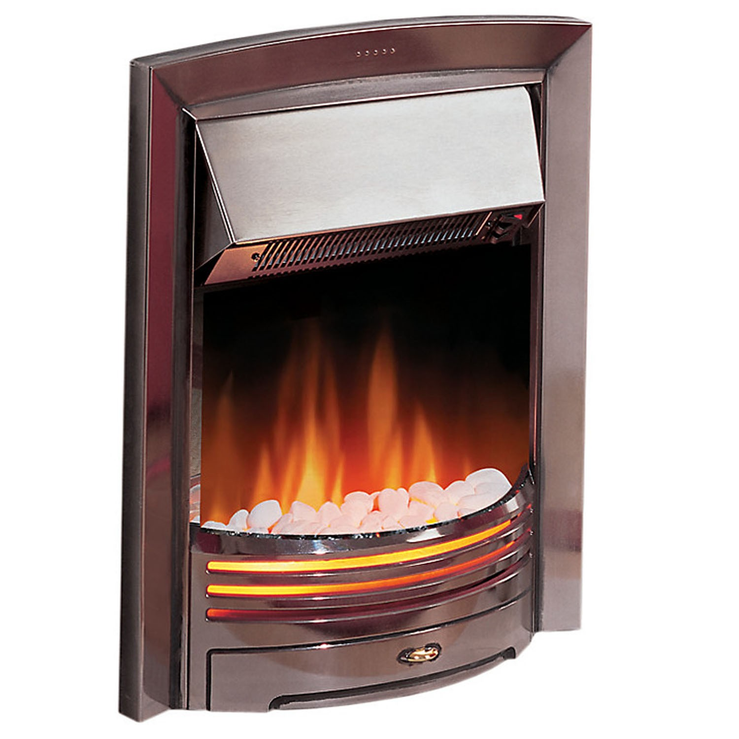 Dimplex Adagio Electric Inset Fire Chrome Leekes