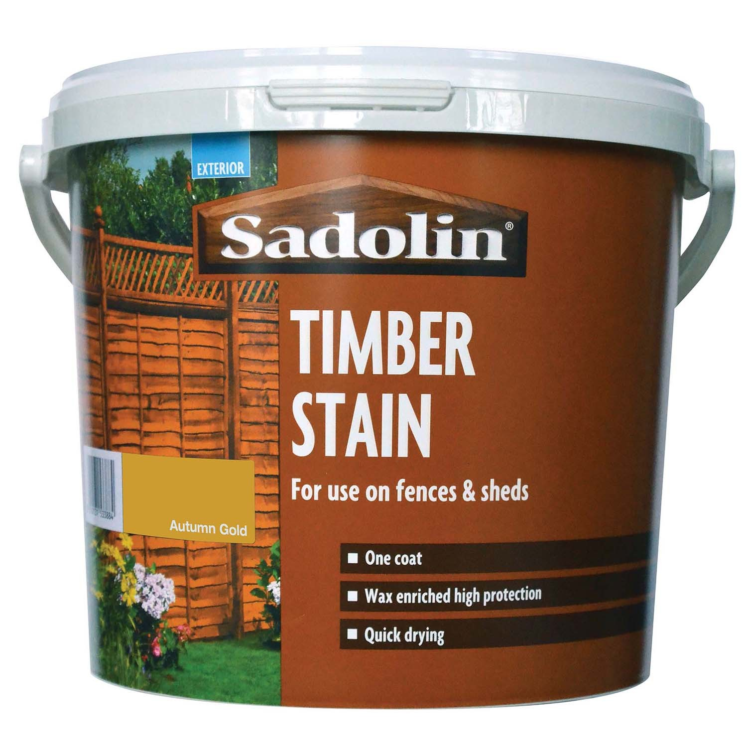 Sadolin 5L Timber Stain Paint, Autumn Gold