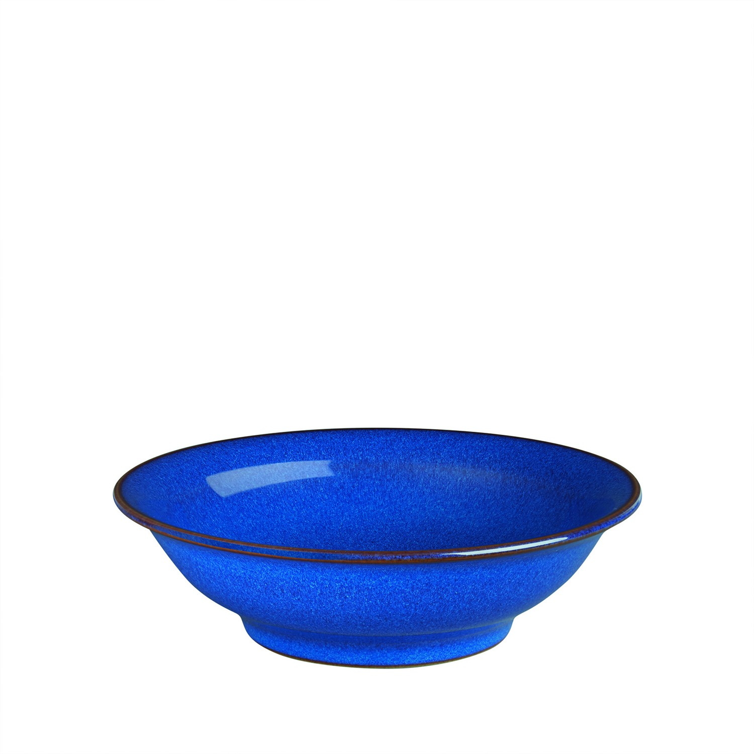 Denby Imperial Blue Shallow Bowl Leekes