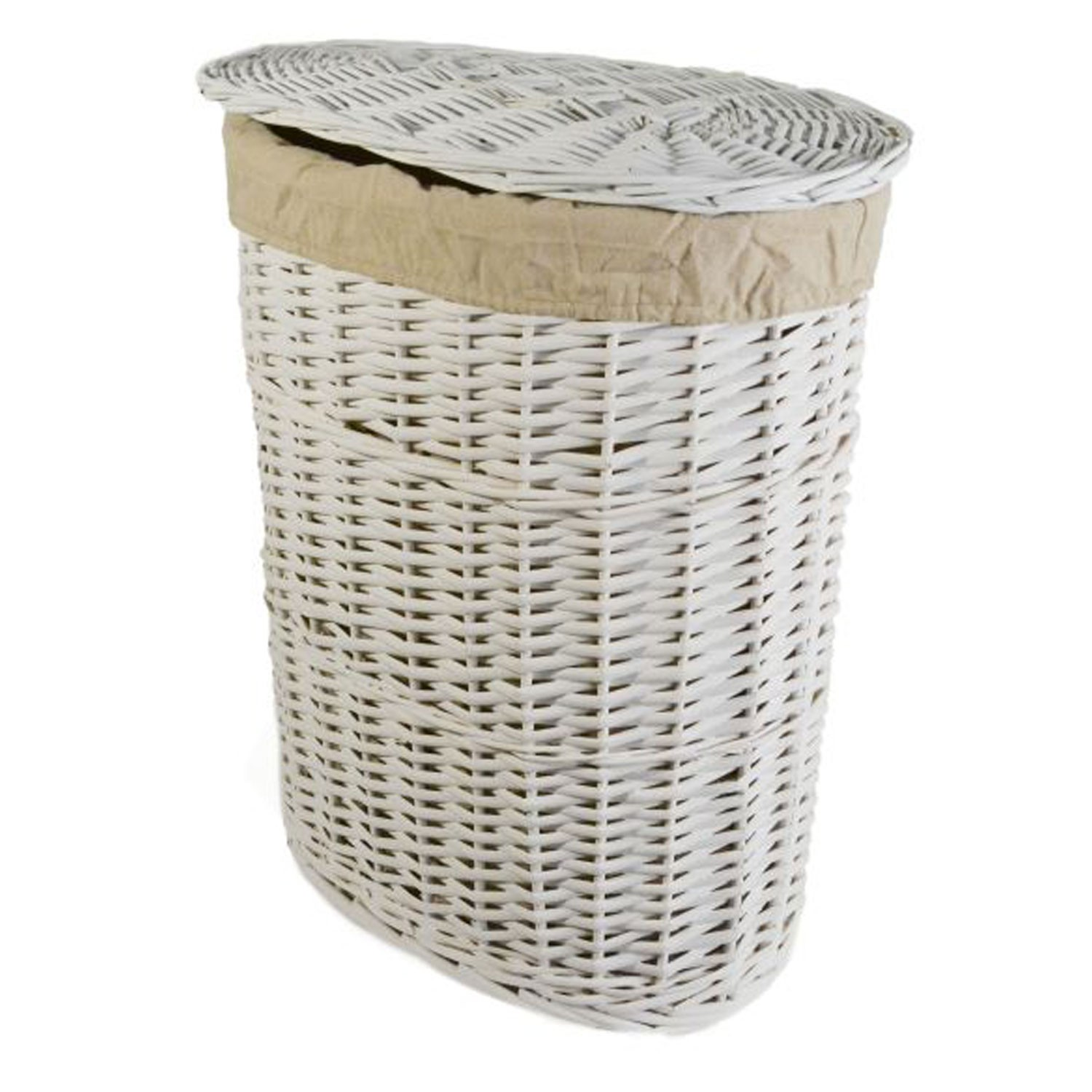 casa willow laundry basket small white leekes. Black Bedroom Furniture Sets. Home Design Ideas