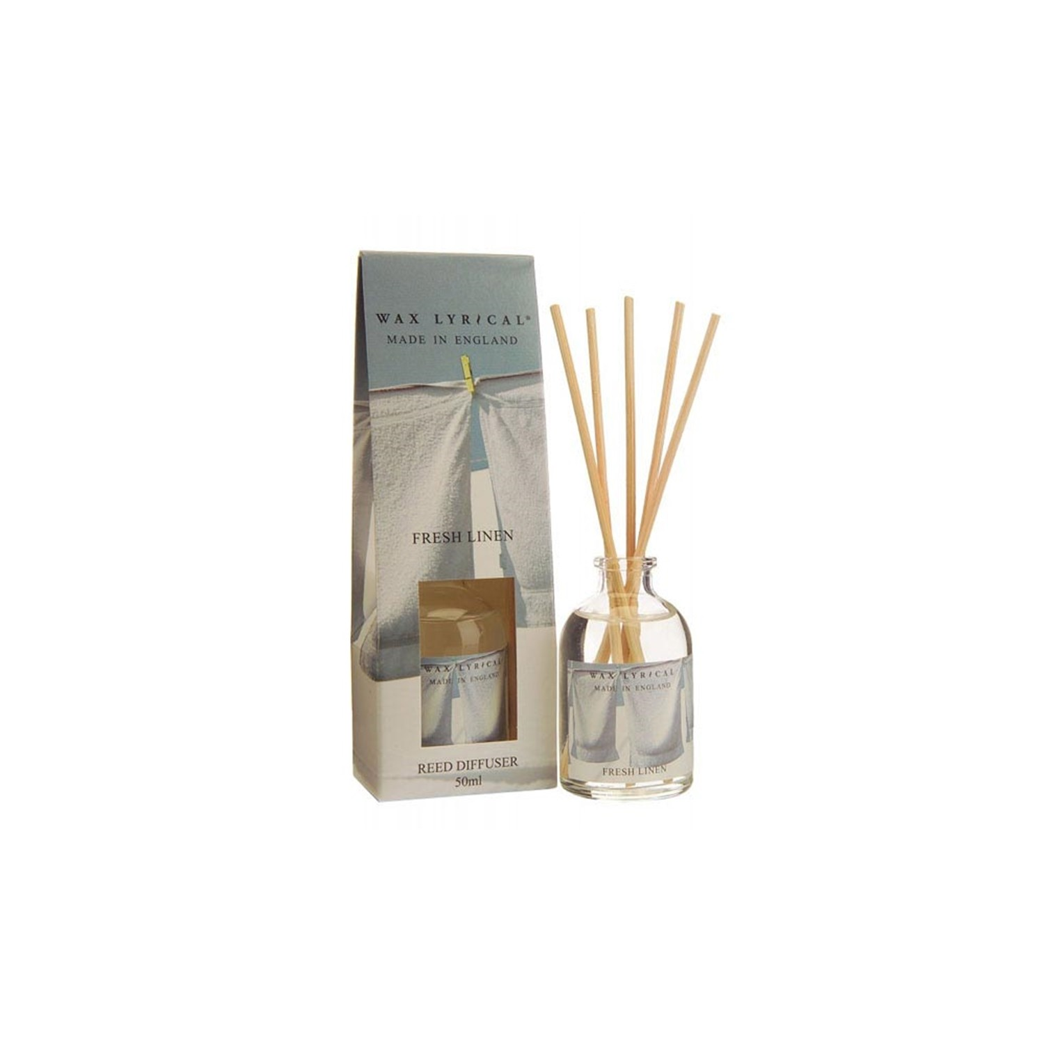 Airpure Reed Diffuser Home Collection Linen Room 30 Ml: Wax Lyrical Reed Diffuser, Fresh Linen, 50ml