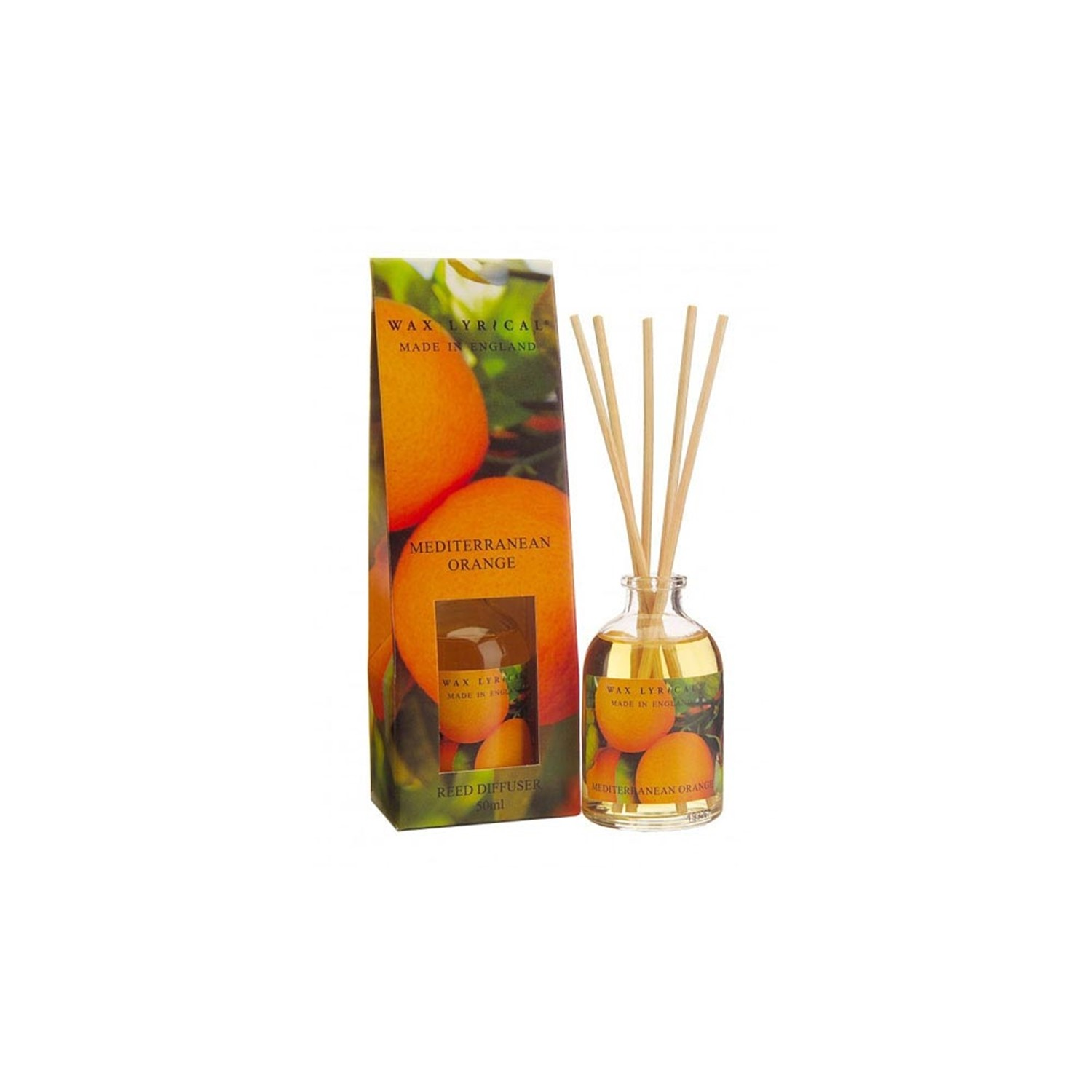Airpure Reed Diffuser Home Collection Linen Room 30 Ml: Wax Lyrical Reed Diffuser Mediterranean Orange, 50ml