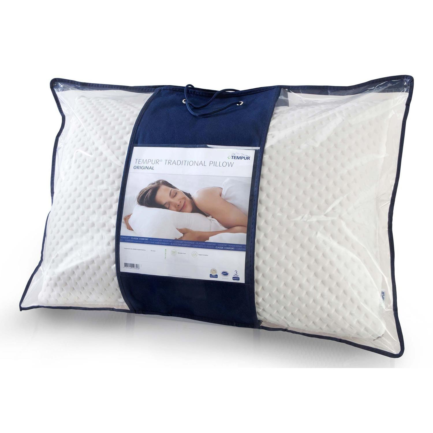 Tempur Traditional Travel Pillow : Tempur Comfort Pillow Traditional Leekes