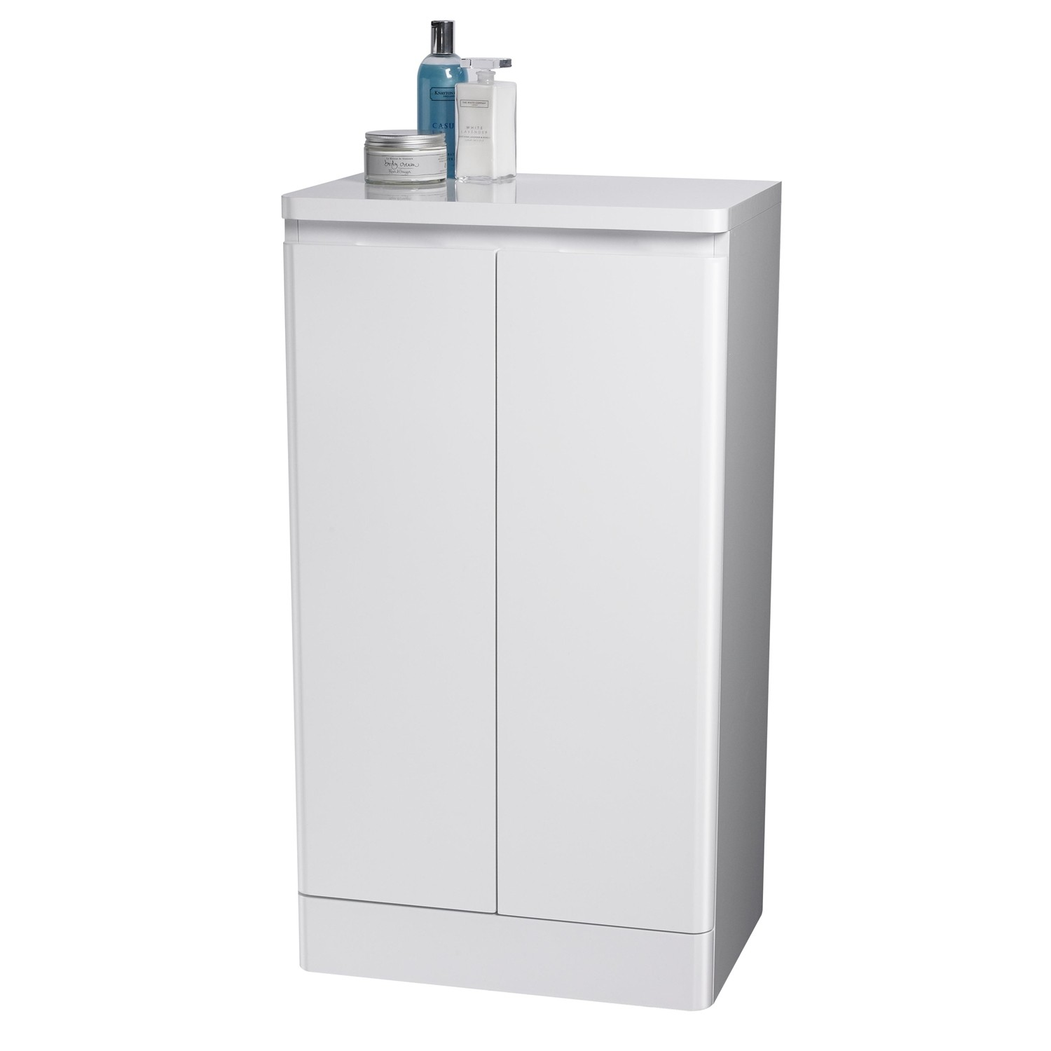 Freestanding bathroom cabinet white specially for las for Bathroom cabinets las vegas
