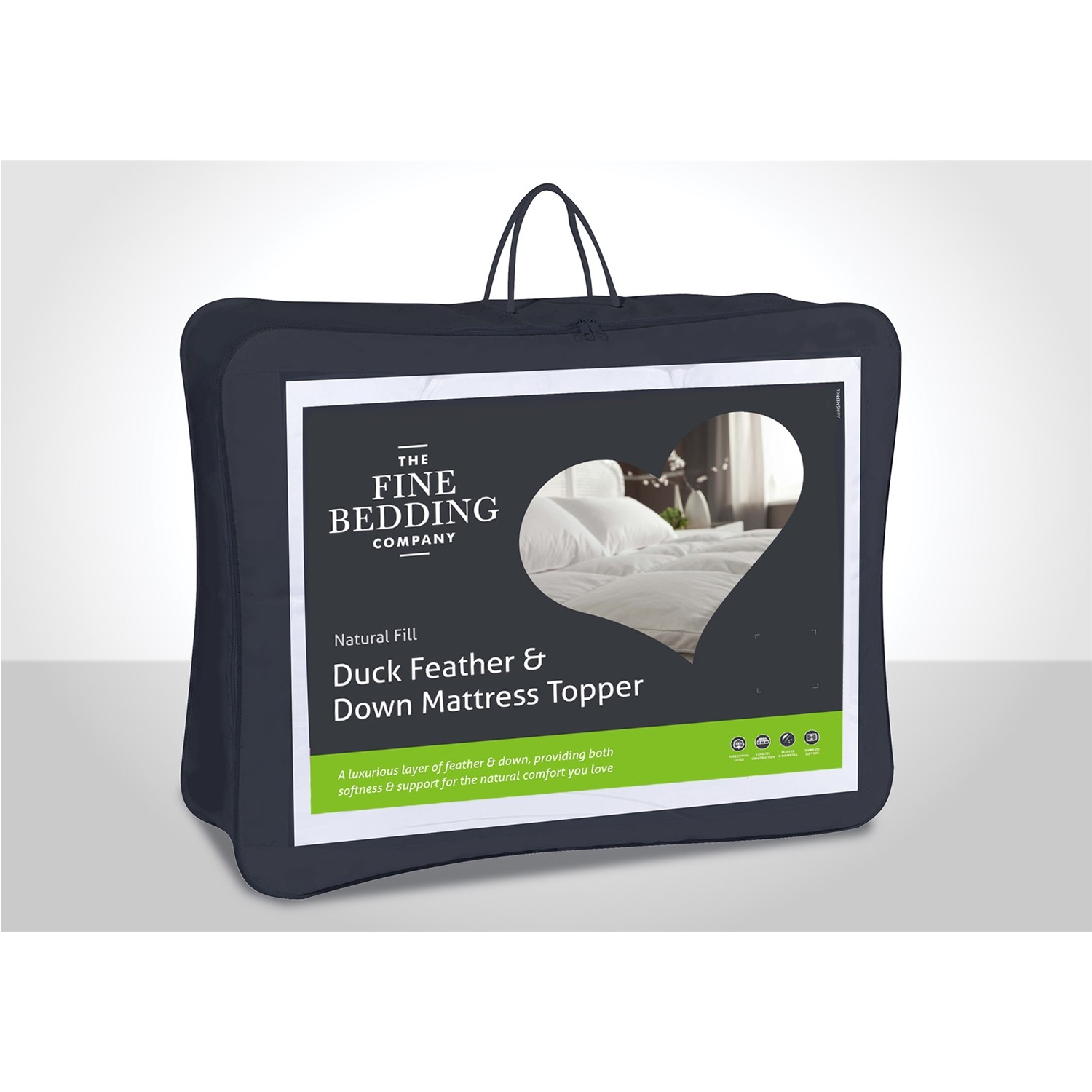 Fine Bedding Company Duck Feather And Down Mattress Topper