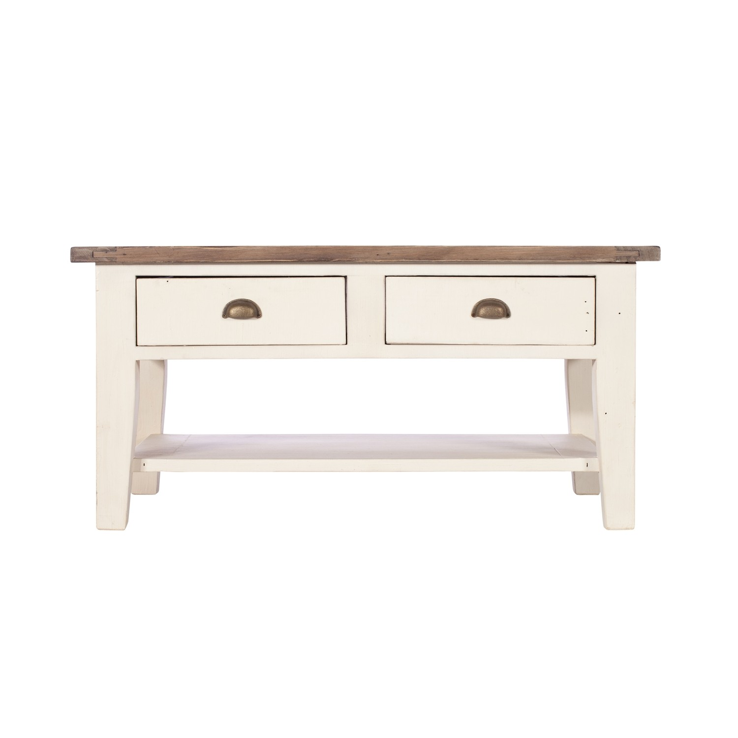 Casa Cotswold Coffee Table Coffeetabl White And Brown Lee