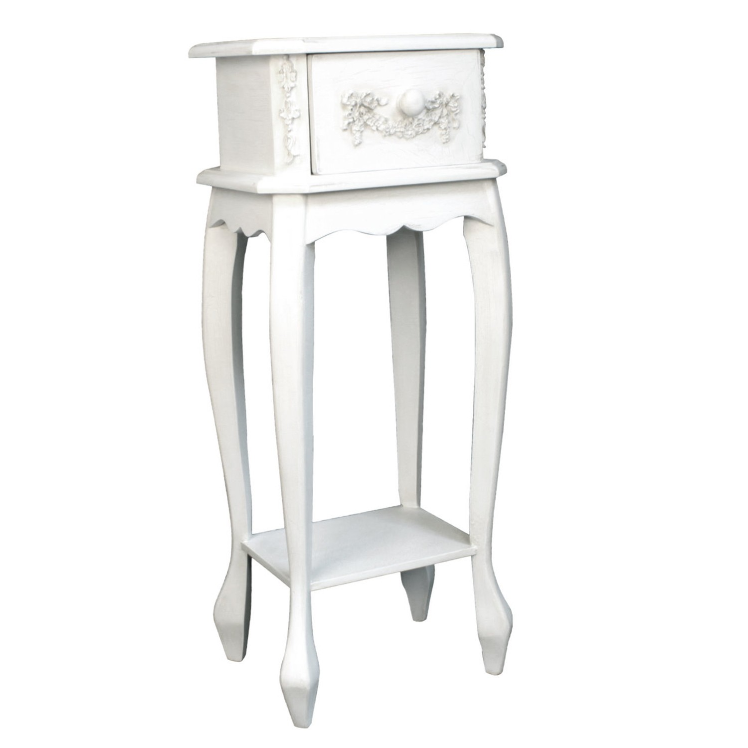 French ivory wooden single small side table cream leekes for Small wooden side table
