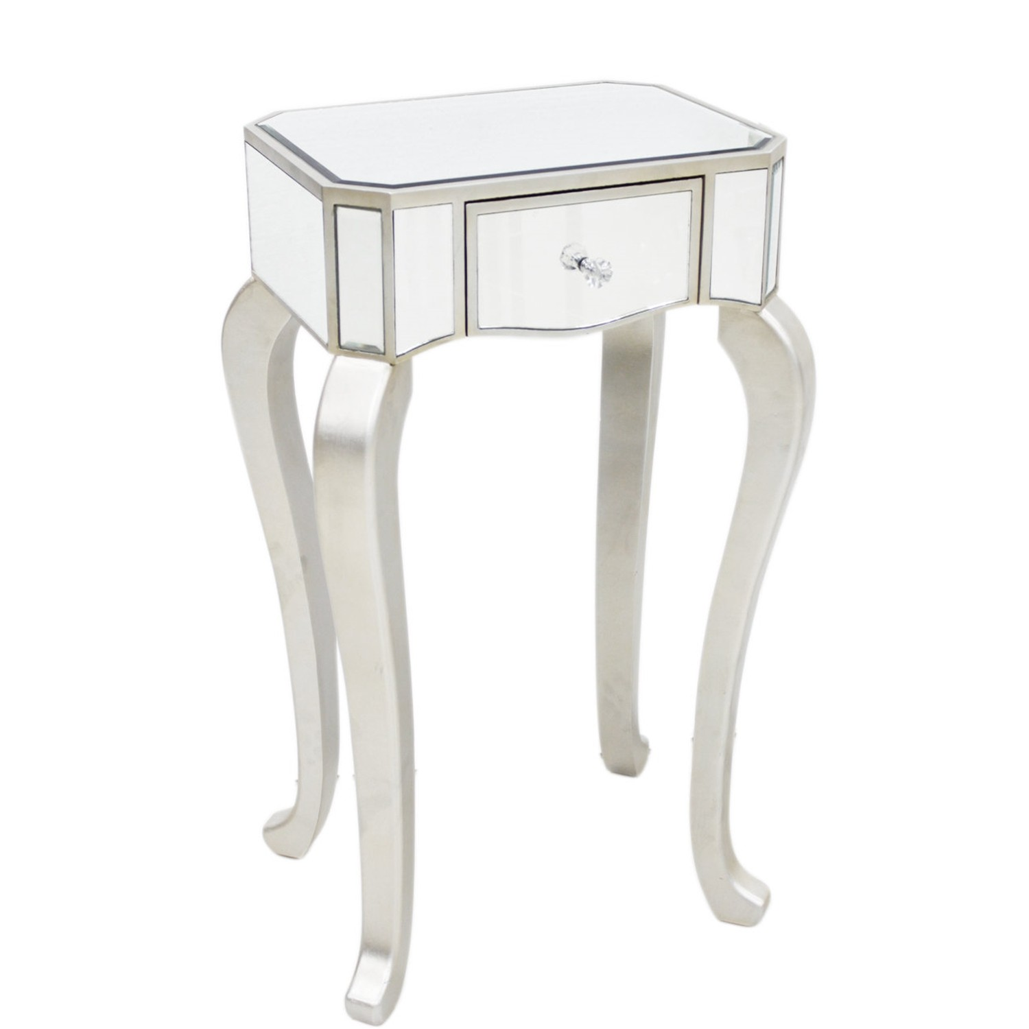 Single Drawer Mirrored Telephone Table, Champagne | Leekes