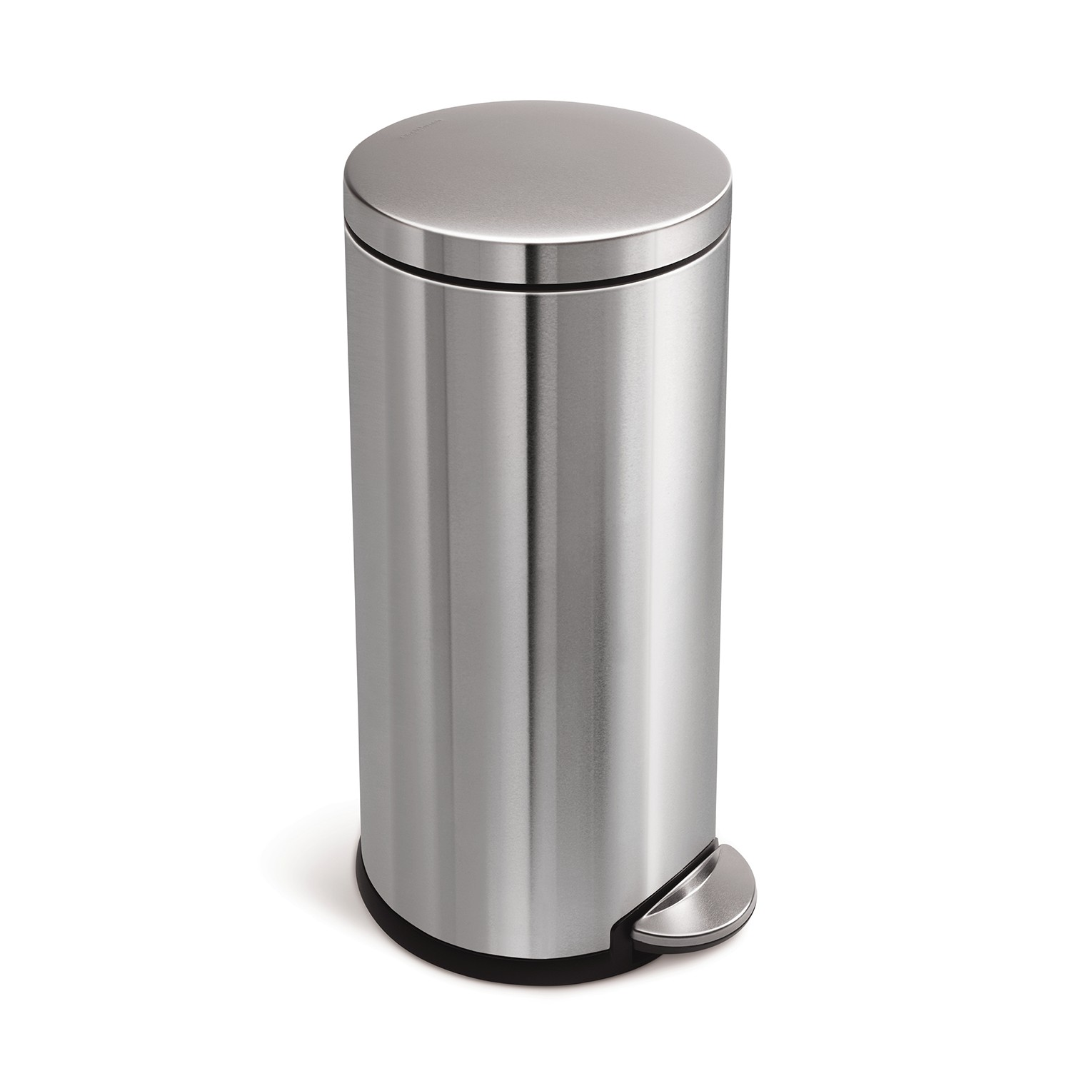 Simplehuman Round Pedal Bin 30l Brushed Stainless Steel