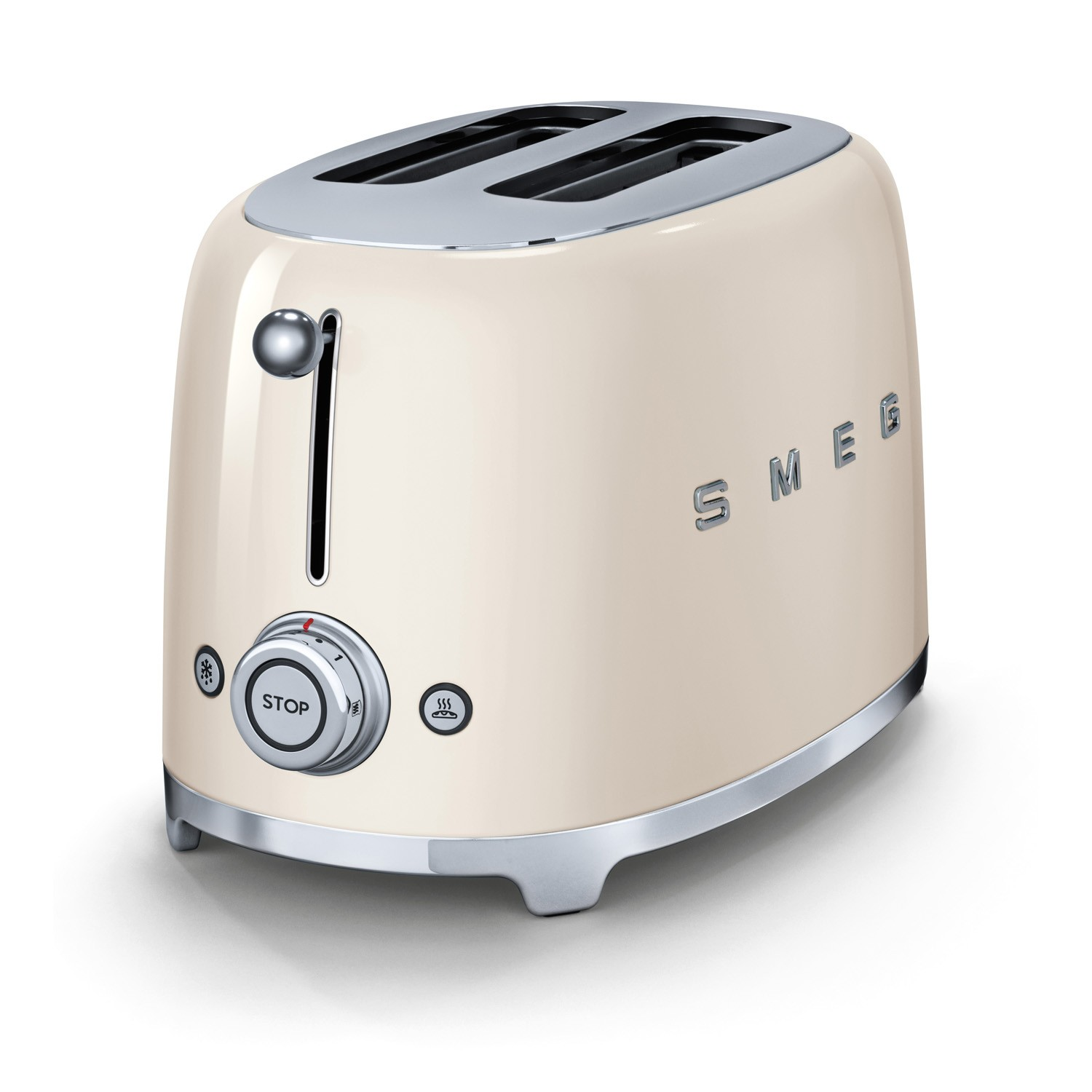 smeg 2 slice toaster tsf02 cream leekes. Black Bedroom Furniture Sets. Home Design Ideas