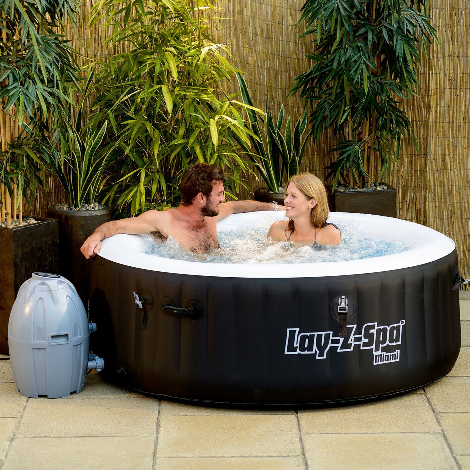 bestway lay z spa miami inflatable spa leekes. Black Bedroom Furniture Sets. Home Design Ideas