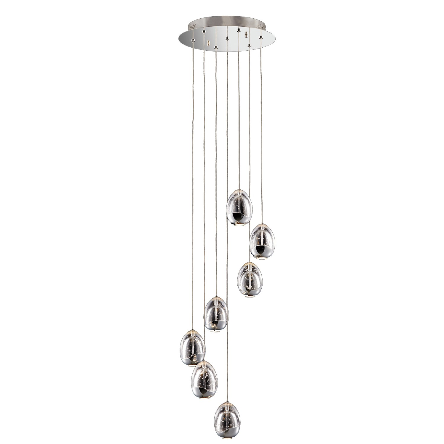 Eden 7 light spiral pendant chrome leekes zoom aloadofball Choice Image