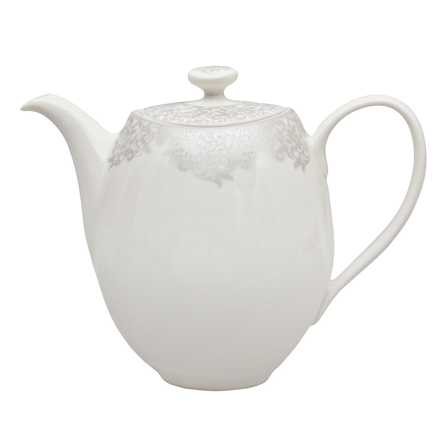Monsoon By Denby Filigree Silver Teapot Leekes