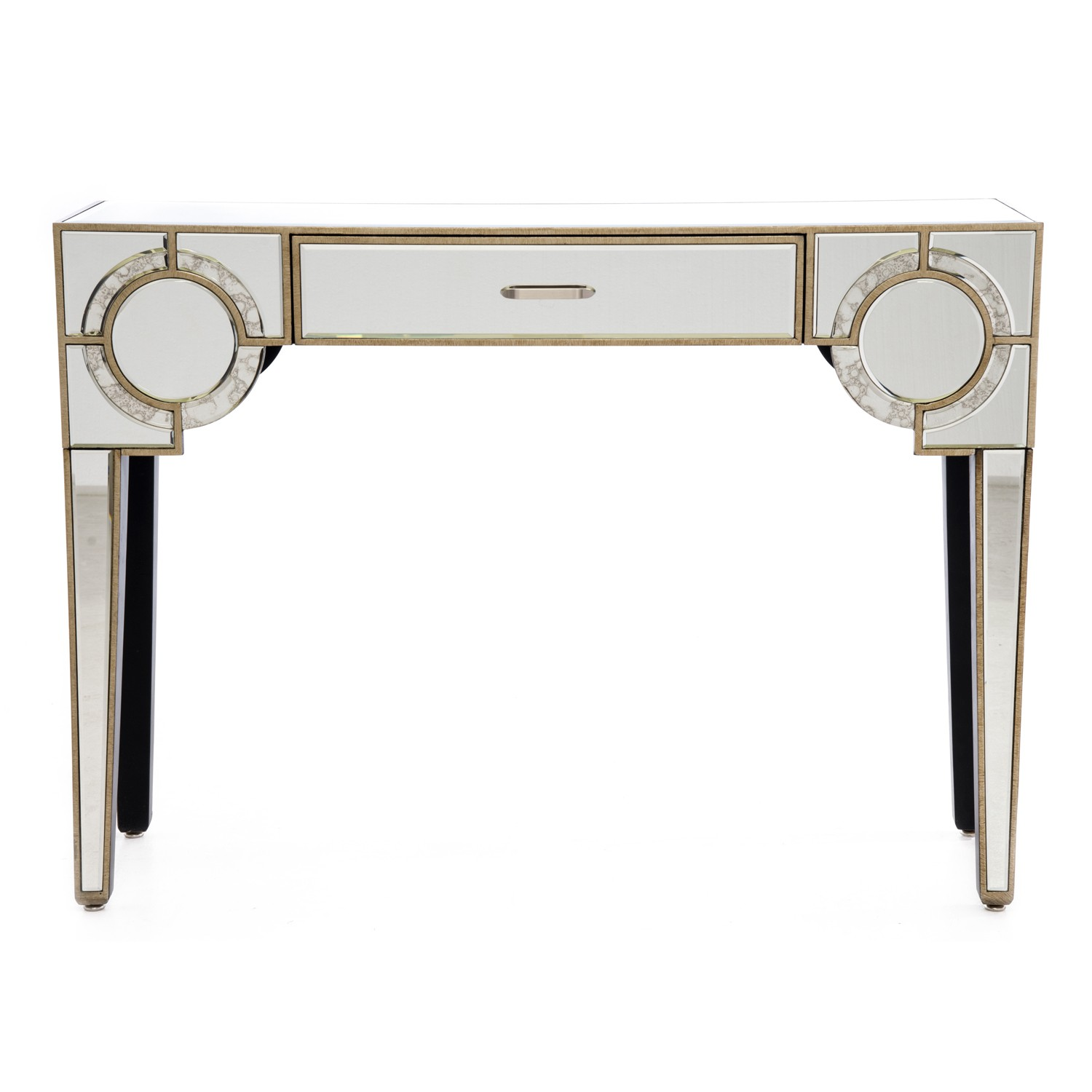 Casa charleston 1 drawer console leekes casa gatsby 1 drawer console antique mirror geotapseo Choice Image