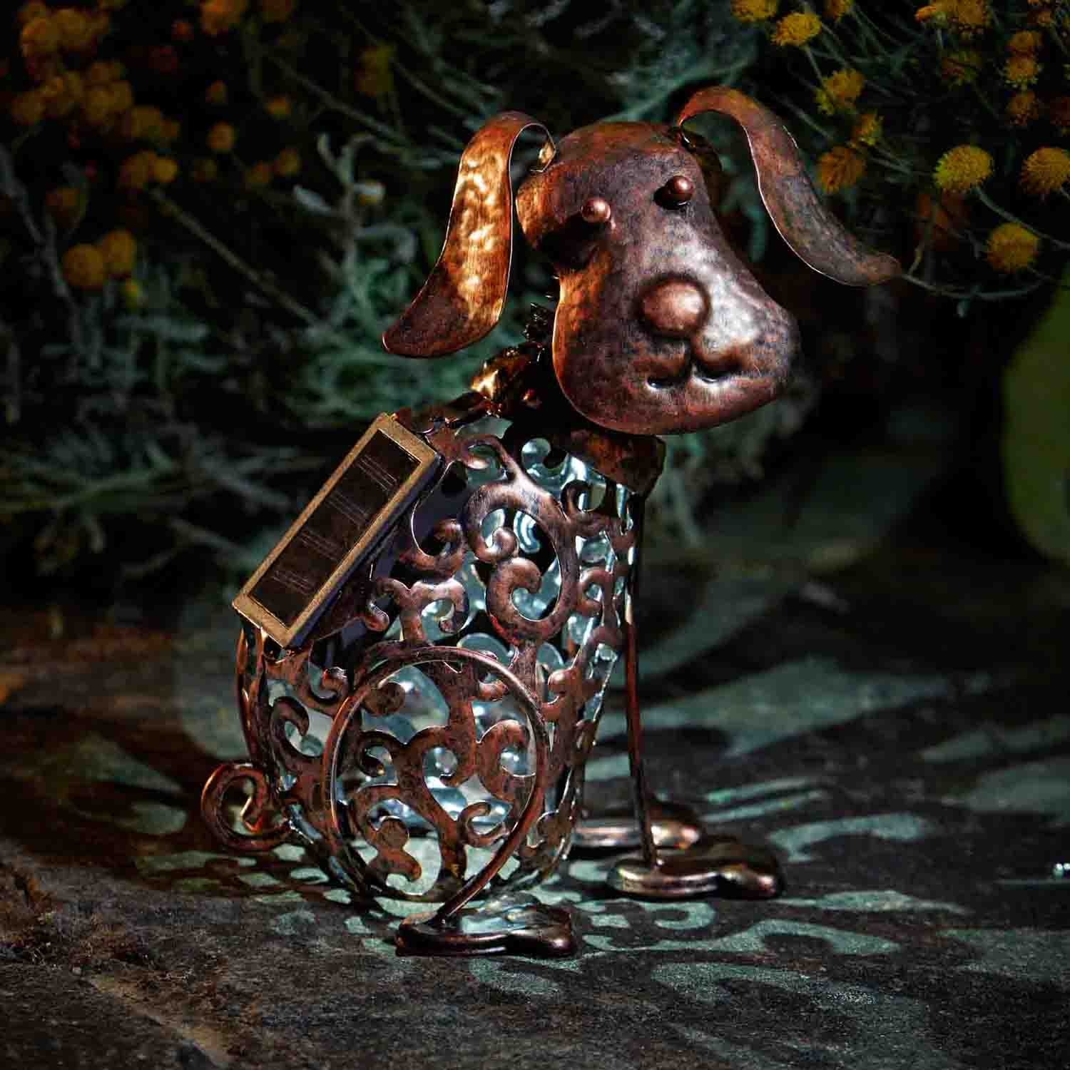 Smart Garden Solar Silhouette Dog Garden Ornament Leekes