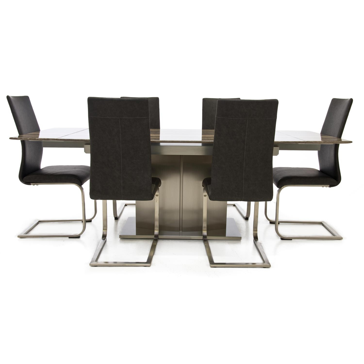 Casa wave dining table 6 chairs leekes for Table and 6 chairs uk