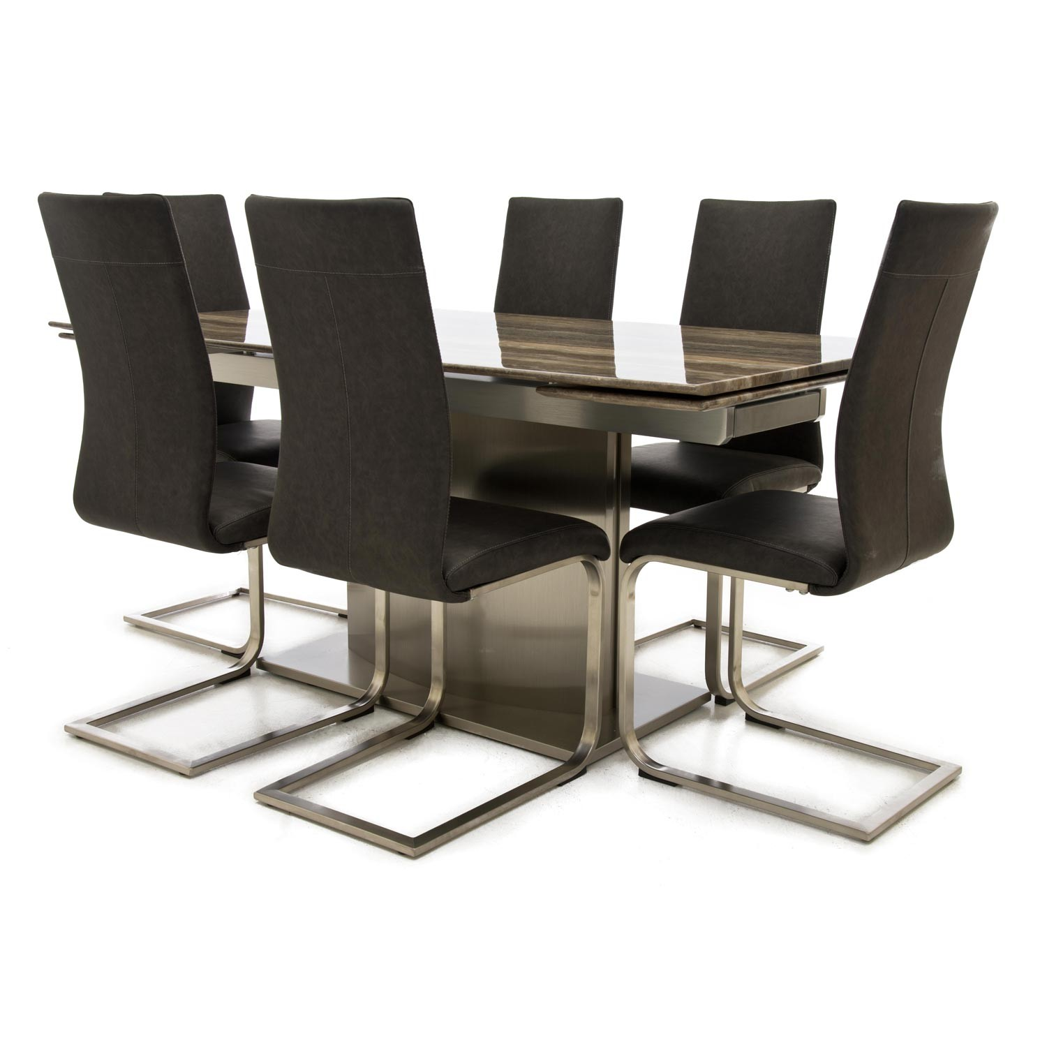 casa wave dining table 6 chairs leekes. Black Bedroom Furniture Sets. Home Design Ideas