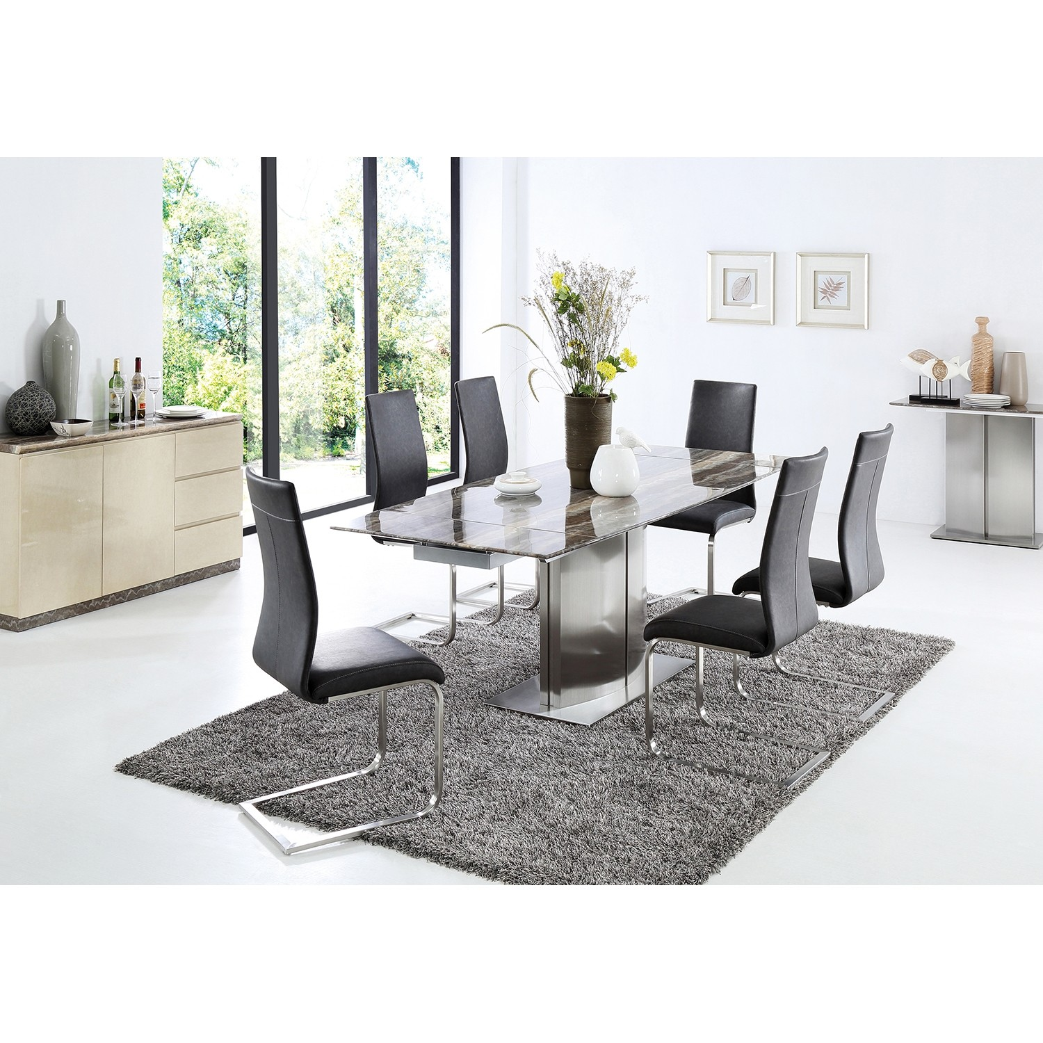 Casa Wave Dining Table 6 Chairs, A Dining Room Table With 6 Chairs