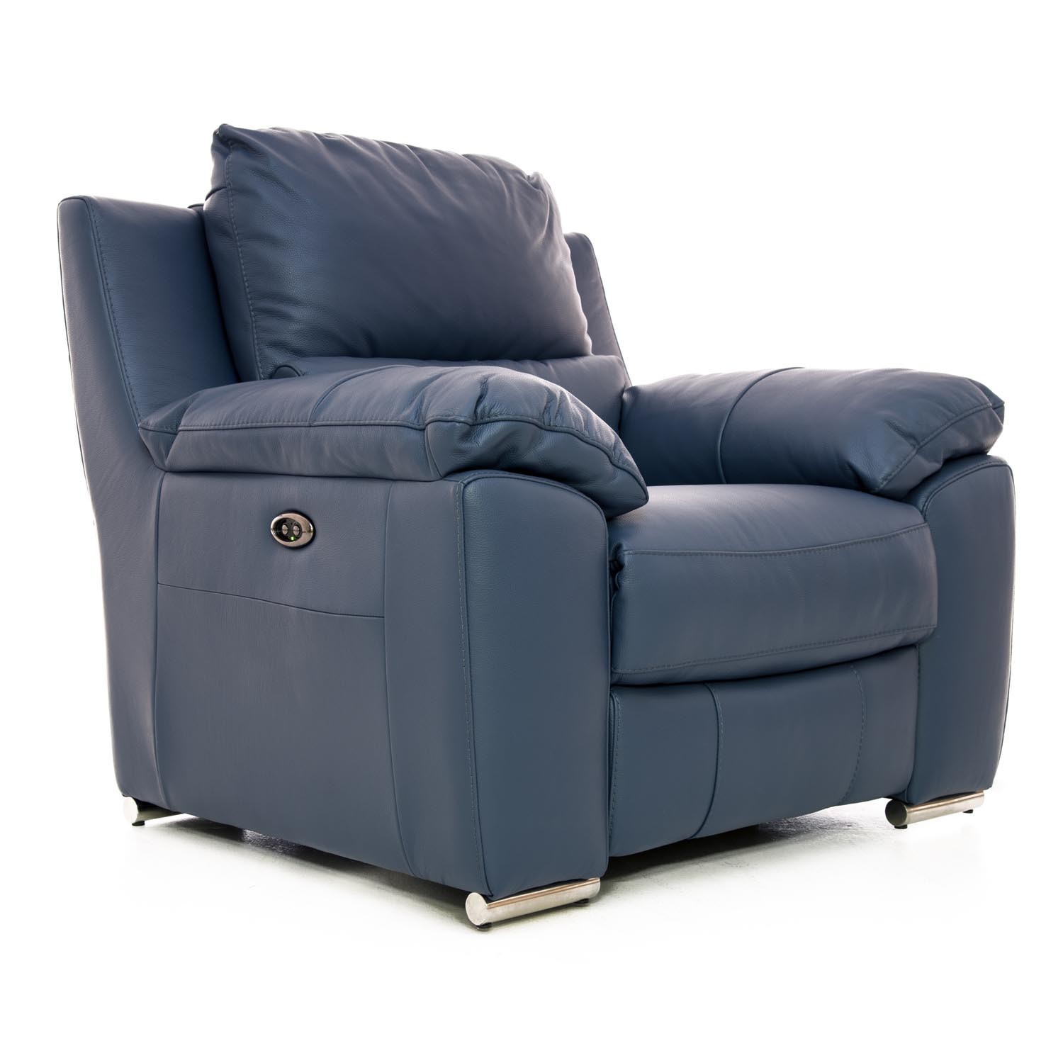Casa Fiji Power Recliner Chair Ocean Blue Leekes