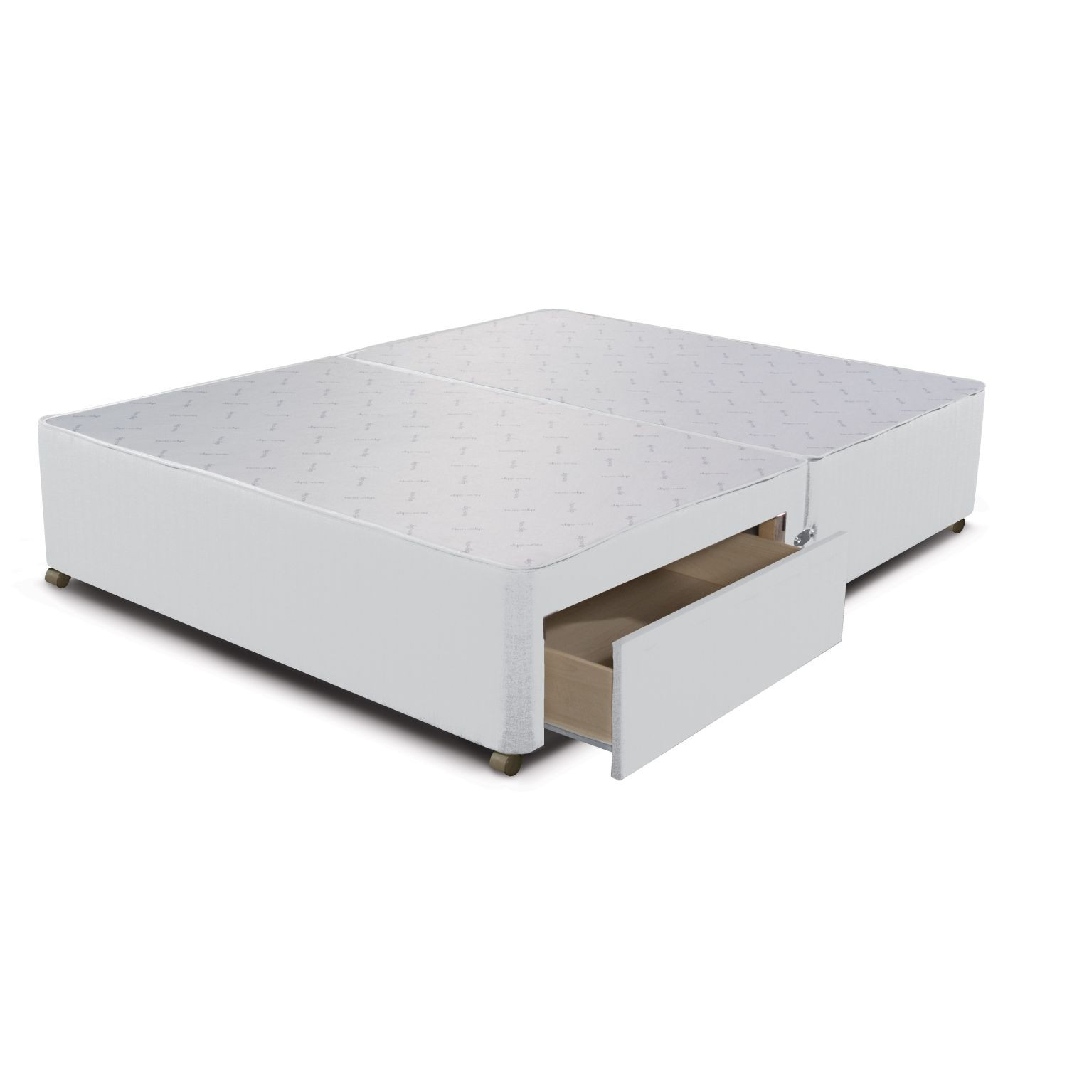 Sleepeezee 2 drawer divan base double white leekes for Divan with drawers