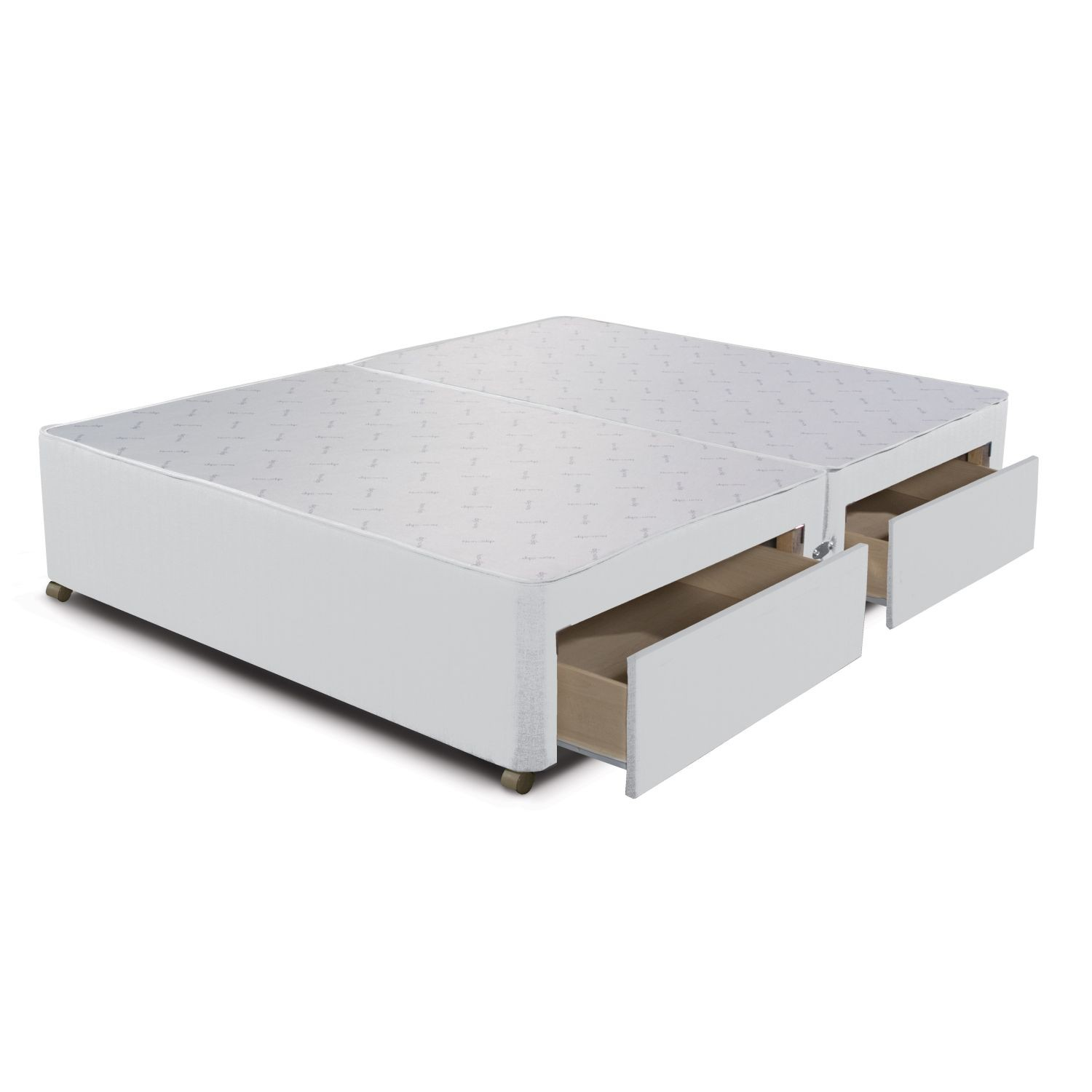 Sleepeezee 4 drawer divan base double white leekes for High divan base