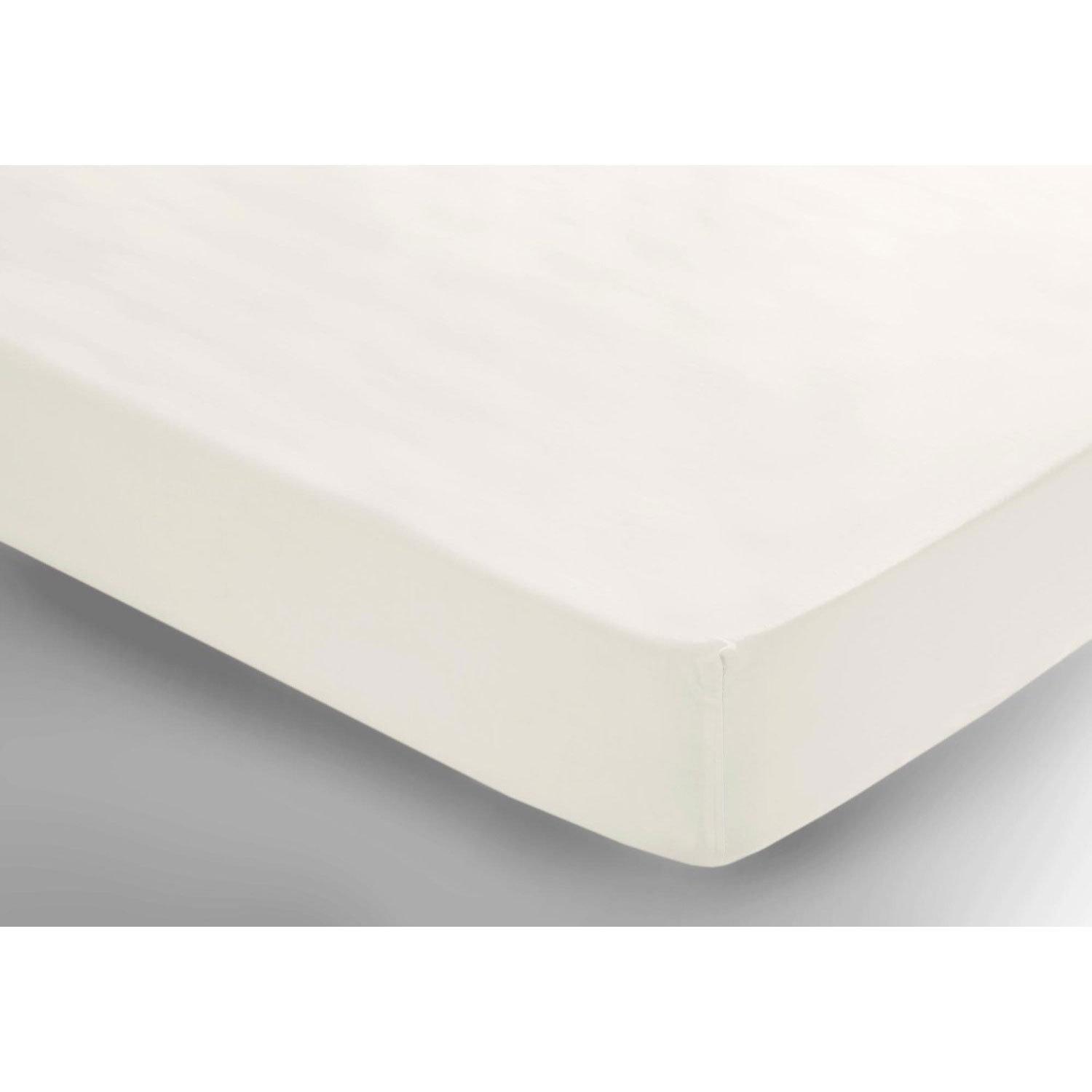 belledorm 200 thread count fitted sheet small double ivory. Black Bedroom Furniture Sets. Home Design Ideas