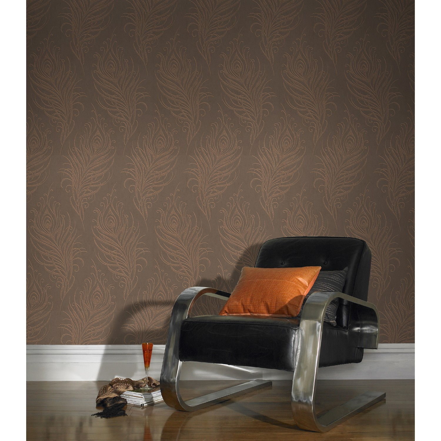 graham and brown quill copper 1000x50cm leekes. Black Bedroom Furniture Sets. Home Design Ideas