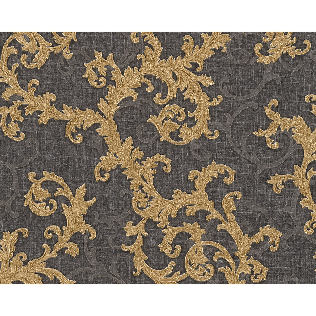 versace baroque roll scroll motif french navy gold leek. Black Bedroom Furniture Sets. Home Design Ideas