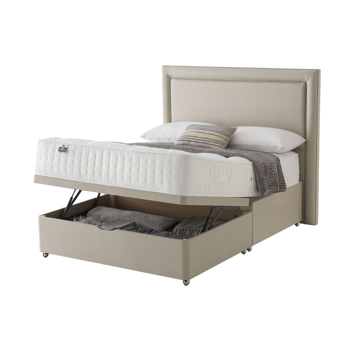 Silentnight Shipley Platform Top Ottoman Bed Set Divan Bed