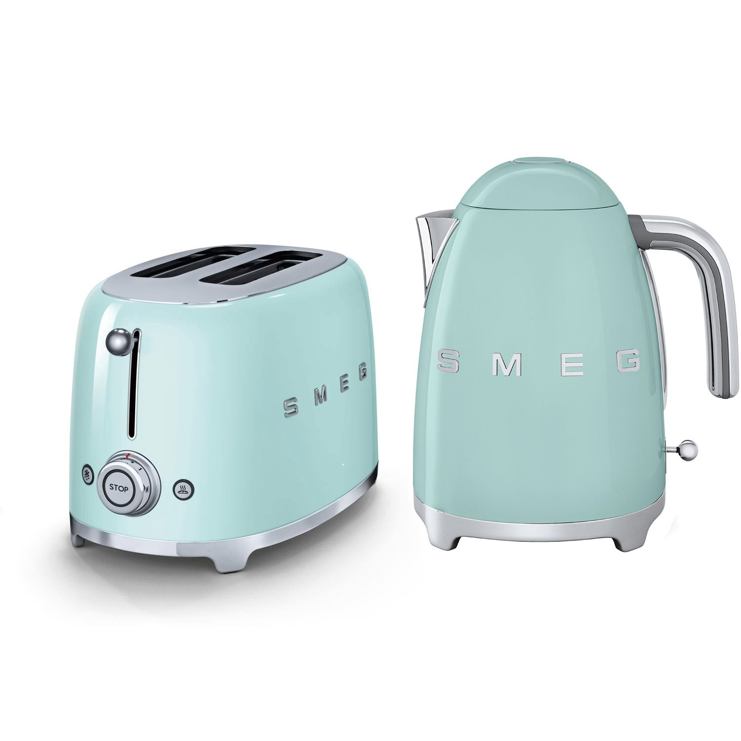 Smeg Kettle Amp 2 Slice Toaster Set Pastel Green Leekes