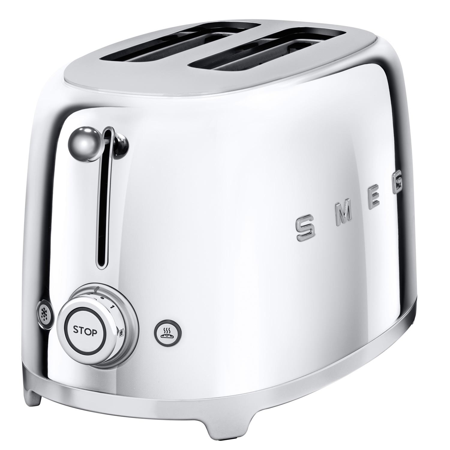 2 Slice Toaster Cream Chrome: Smeg Kettle & 2 Slice Toaster Set, Chrome