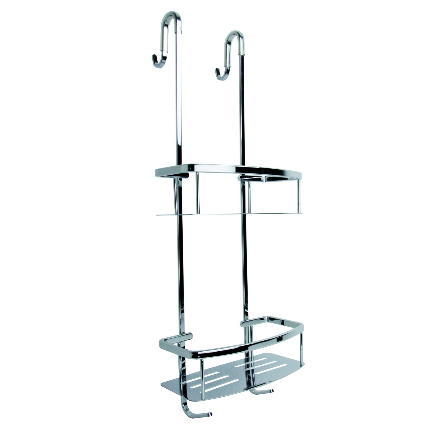 Miller Two Tier Classic Shower Caddy, Chrome | Leekes