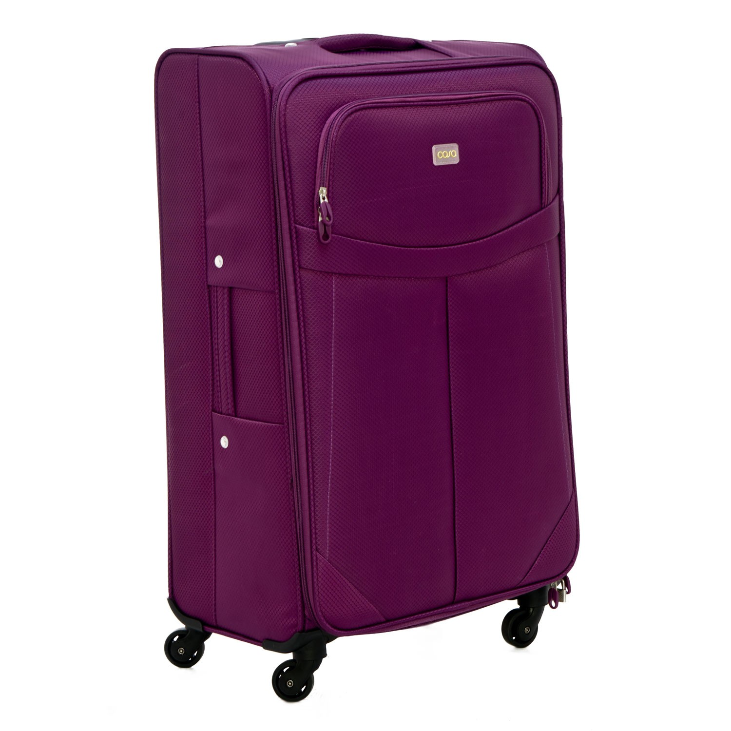 Casa Xtra Lite 28 Quot Large 4 Wheel Suitcase Purple Leekes