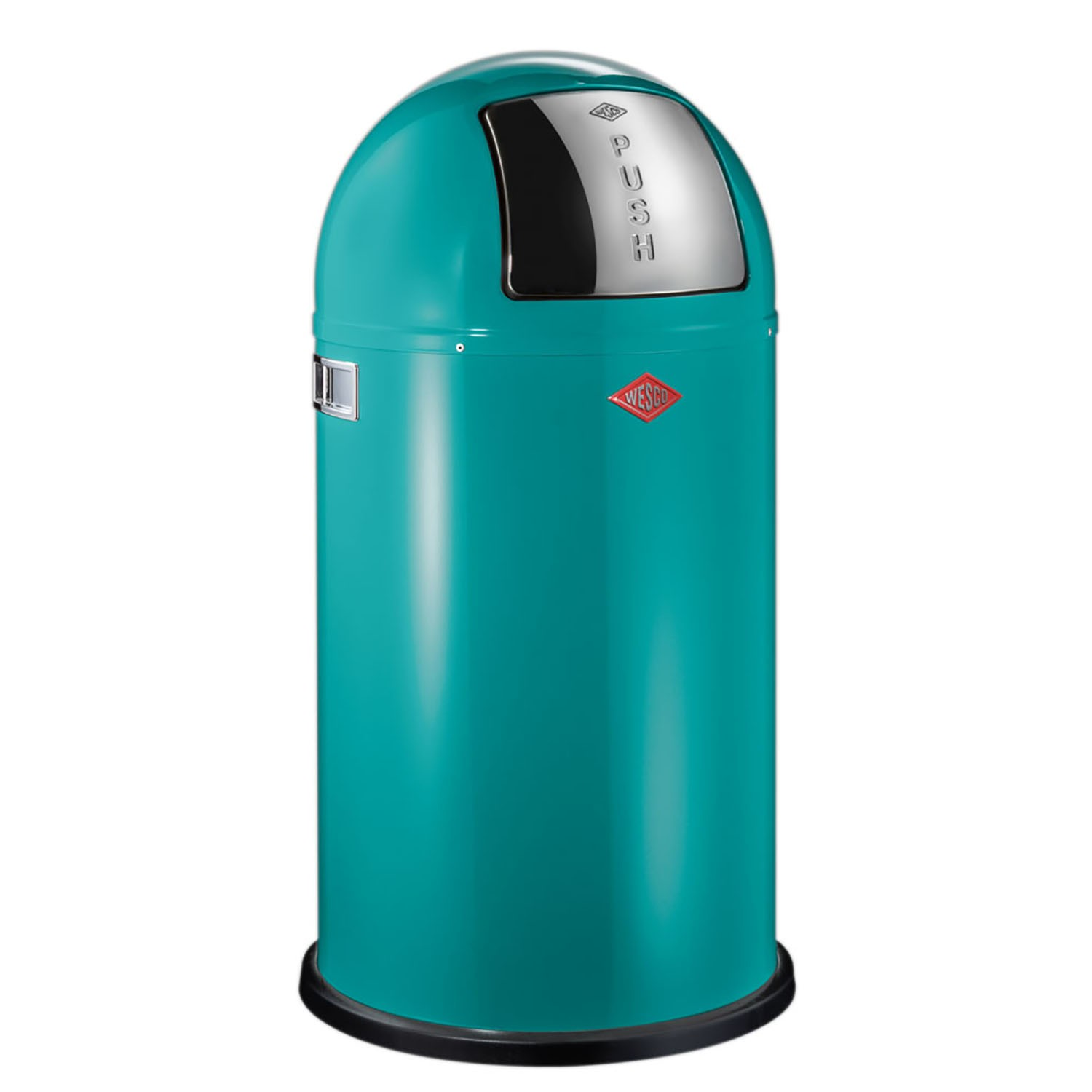 wesco pushboy bin 50l turquoise leekes. Black Bedroom Furniture Sets. Home Design Ideas