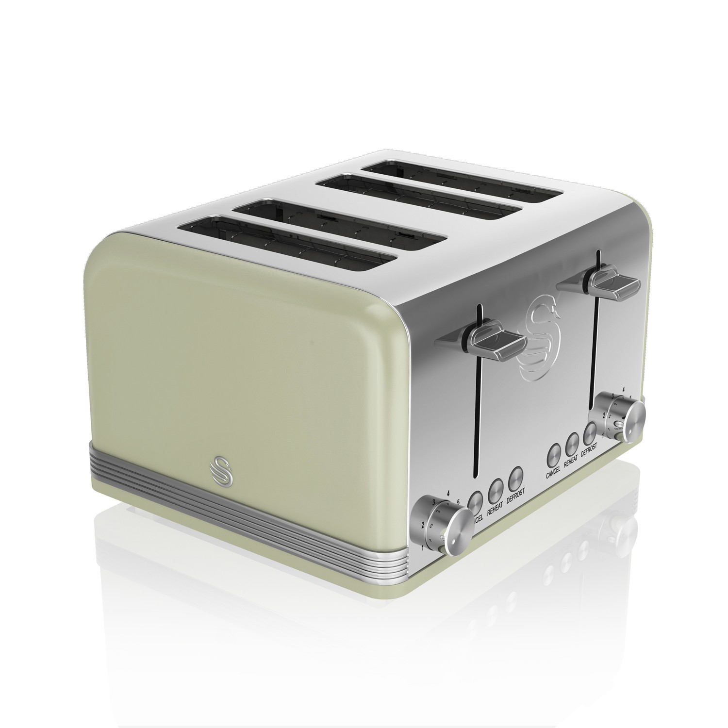 Swan 4 Slice Retro Toaster Light Green Leekes