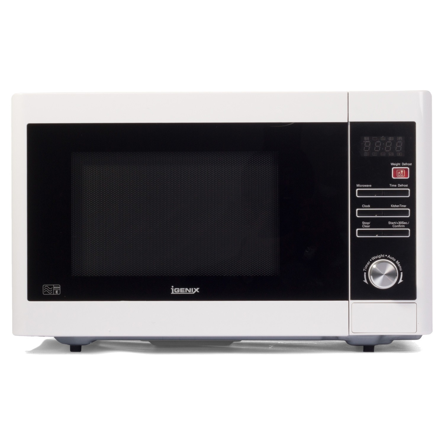 igenix 900w digital microwave white leekes. Black Bedroom Furniture Sets. Home Design Ideas