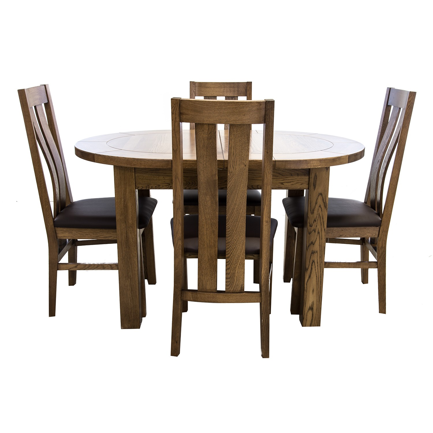 Small Dining Table For 4: Casa Bordeaux Small D-End Table & 4 Chairs Dining Set
