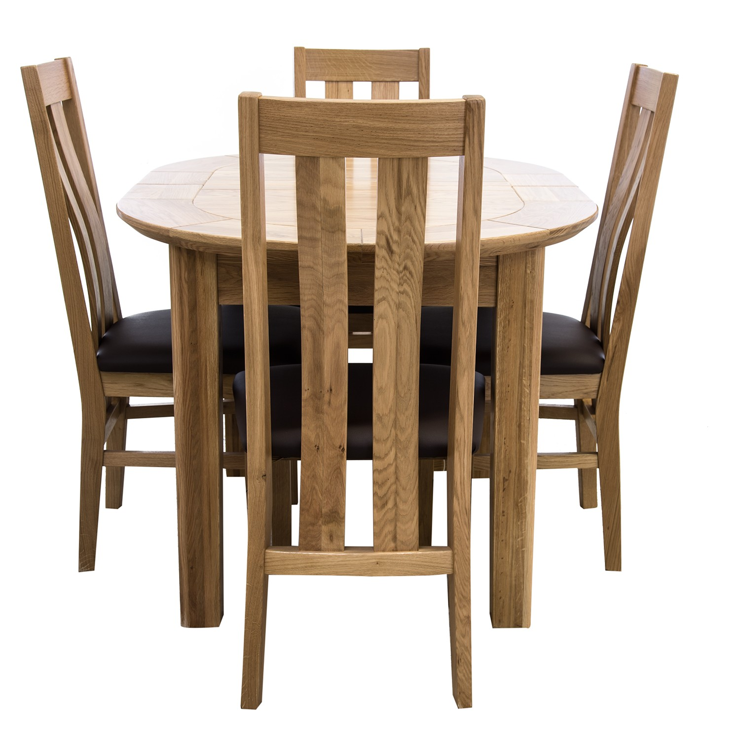 Small Dining Table For 4: Casa Toulouse Small D-End Table & 4 Chairs Dining Set