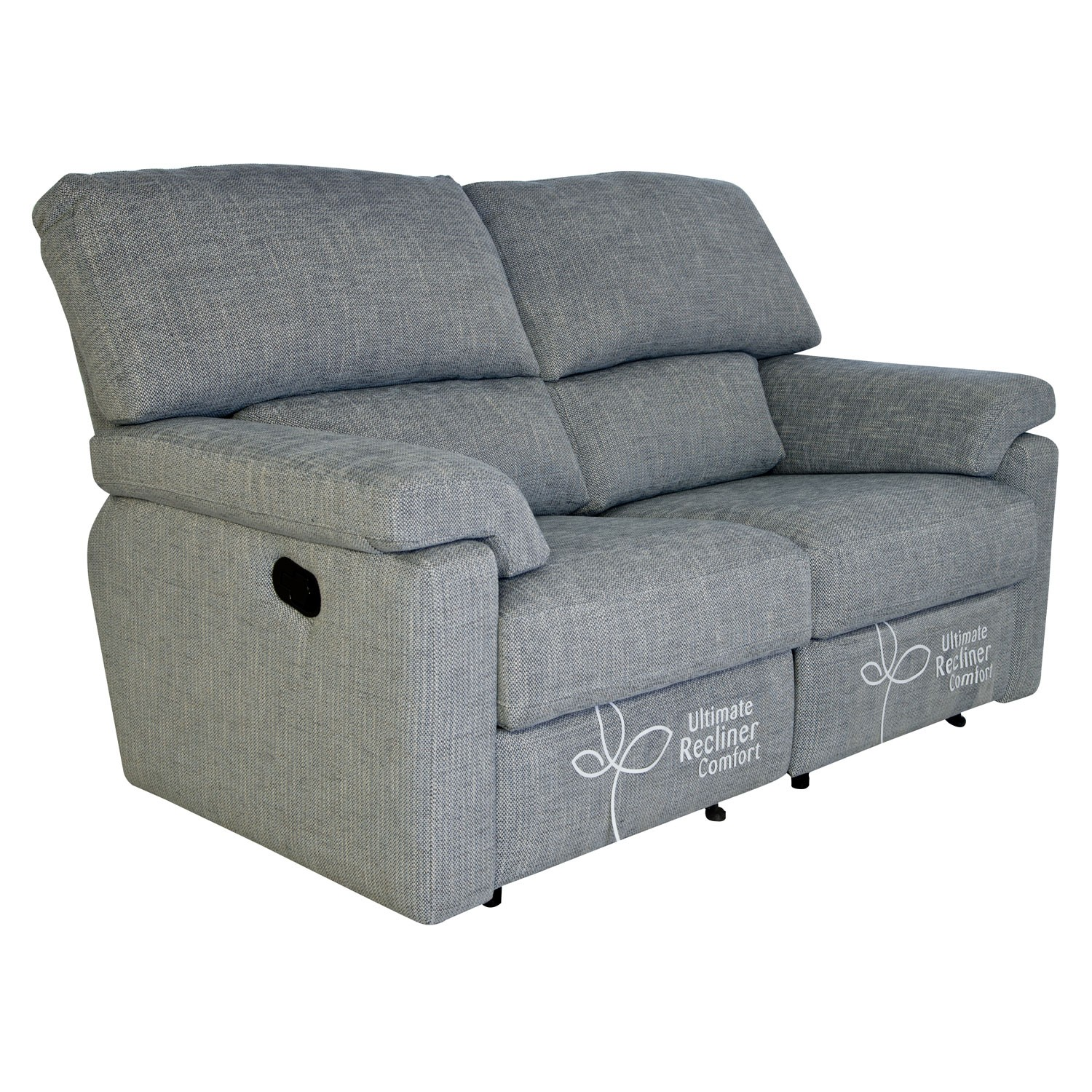 Casa Henry 2 Seater Double Manual Recliner Fabric Sofa Lee