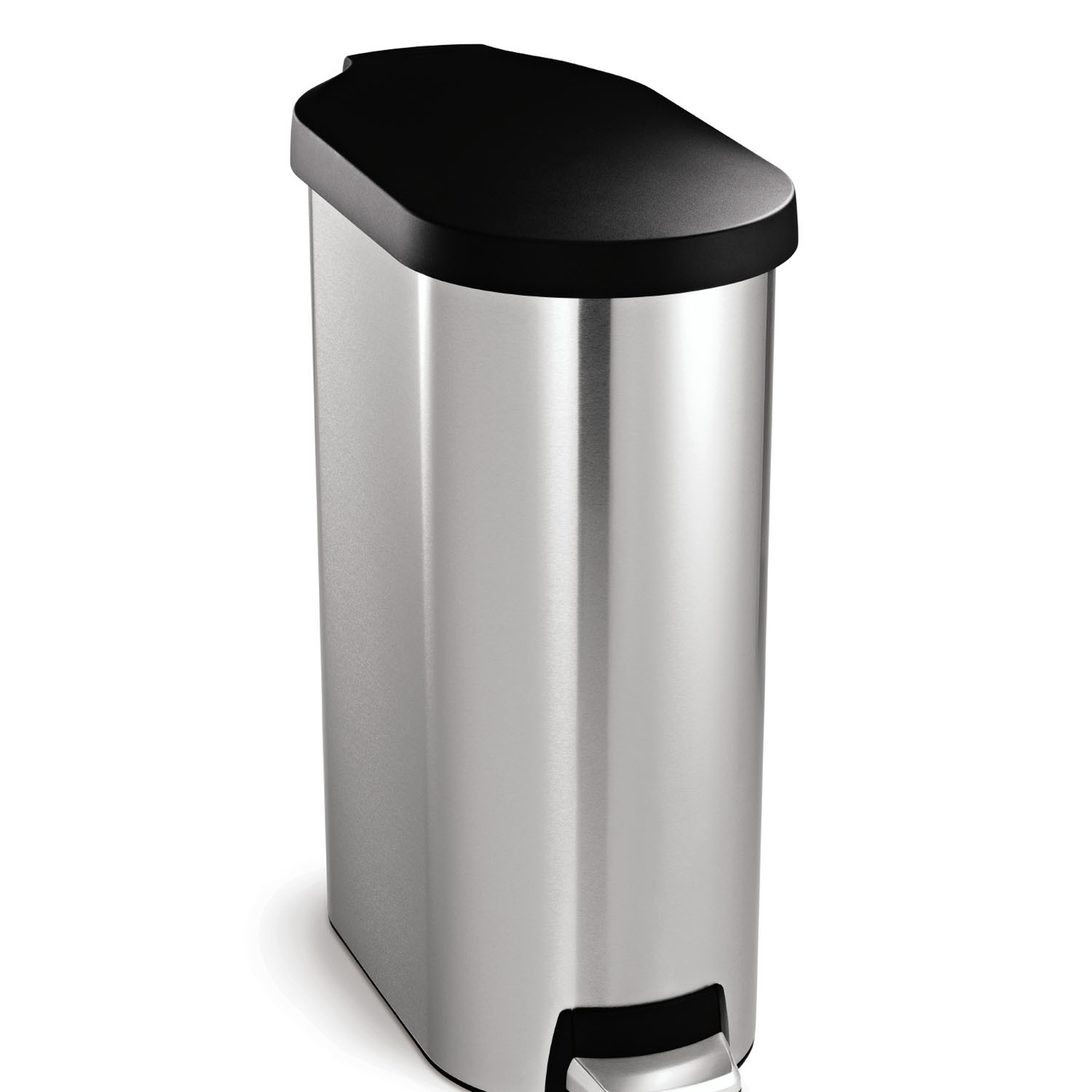 Simplehuman Slim Pedal Bin 45l Brushed Stainless Steel L
