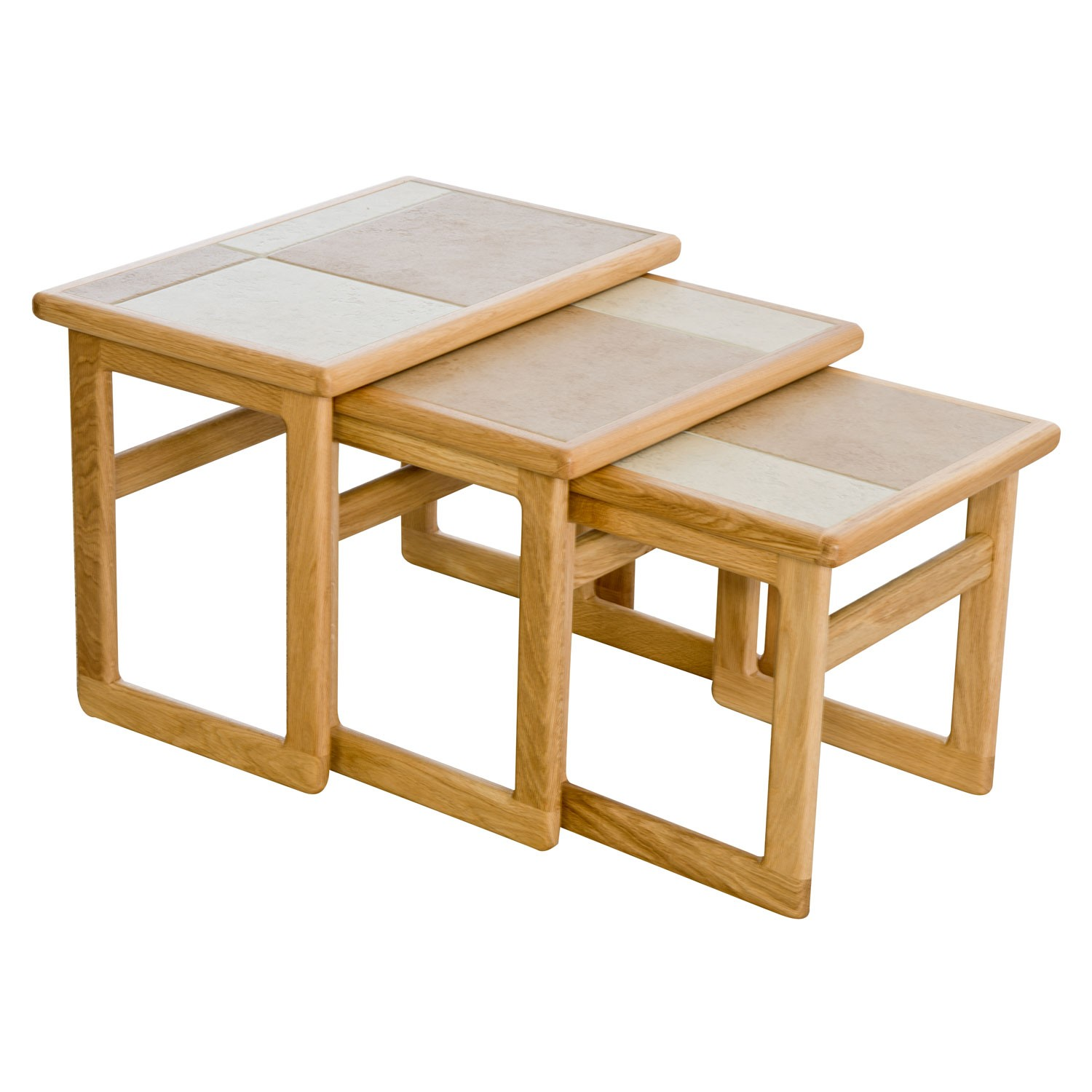 Casa amber tile top small nest of tables leekes for Small nest of tables