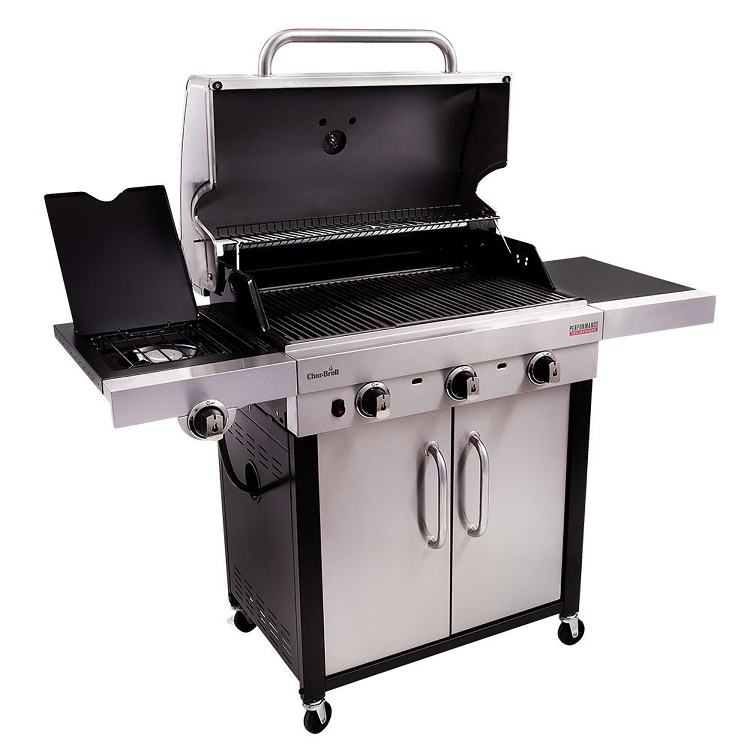 char broil performance 340s gas barbecue silver leekes